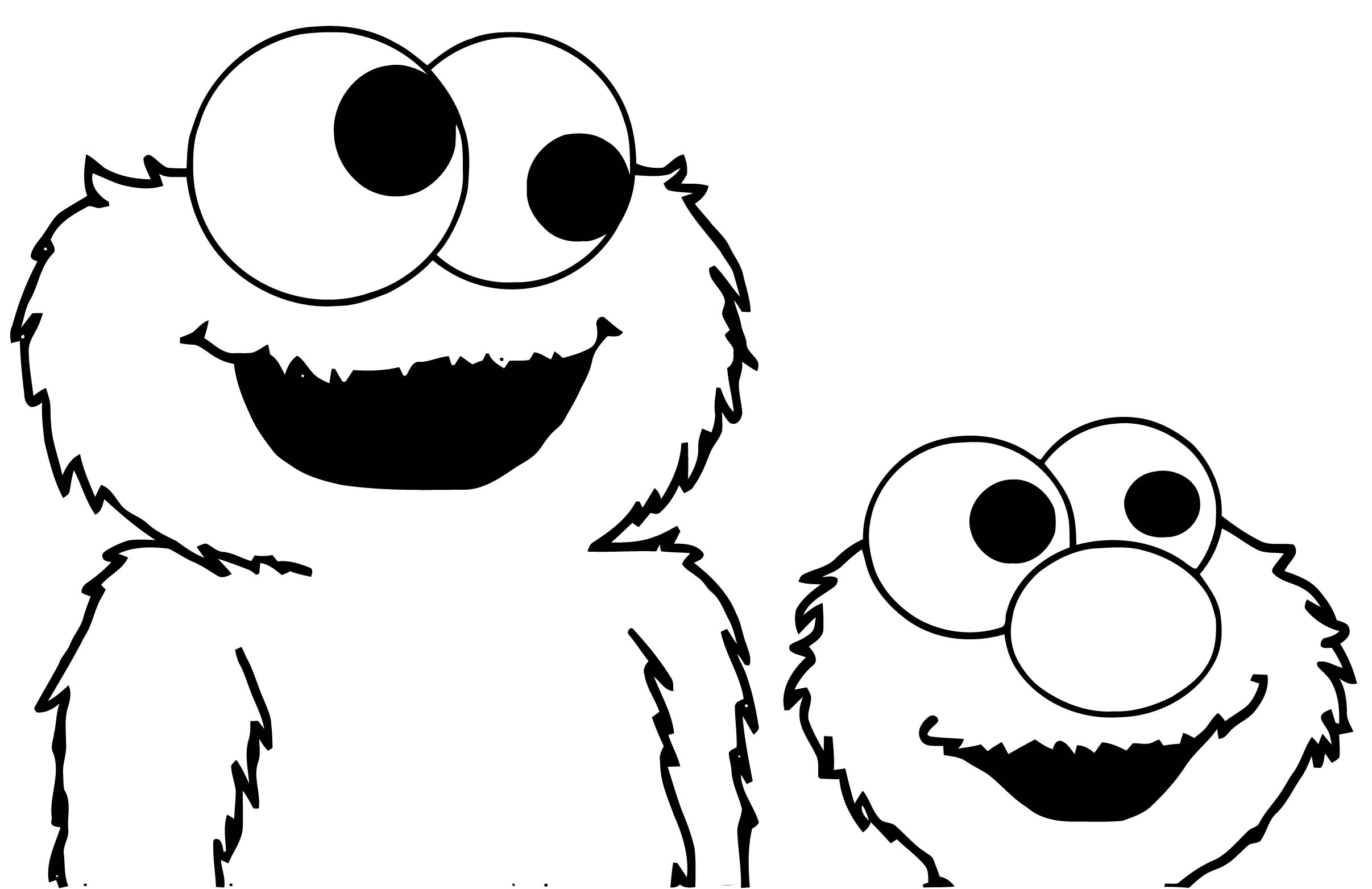 Full Sesame Street Elmo Coloring Page