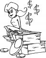 Girl Stay On Money Coloring Page