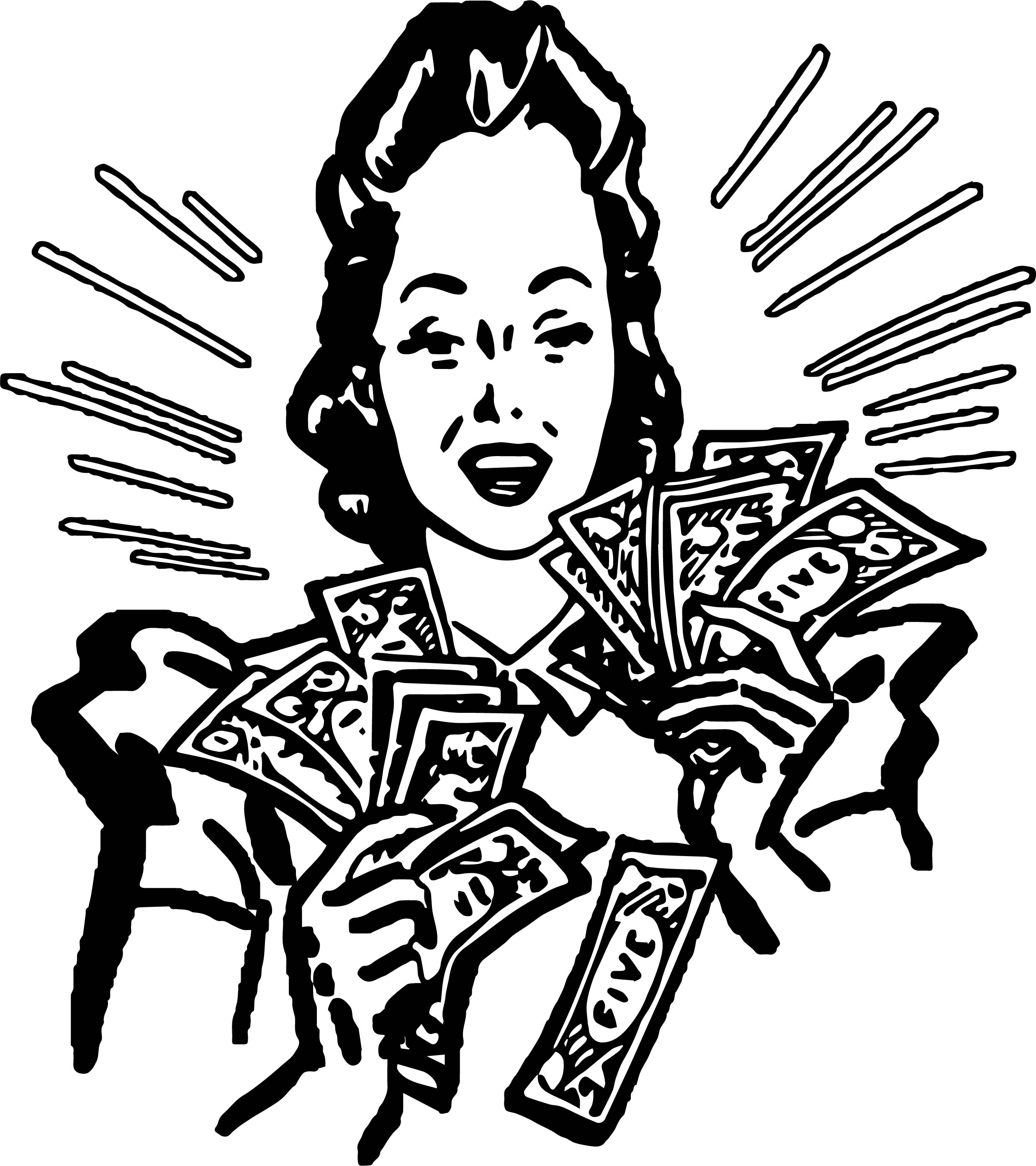 Go Back Gt Gallery For Spending Money Coloring Page