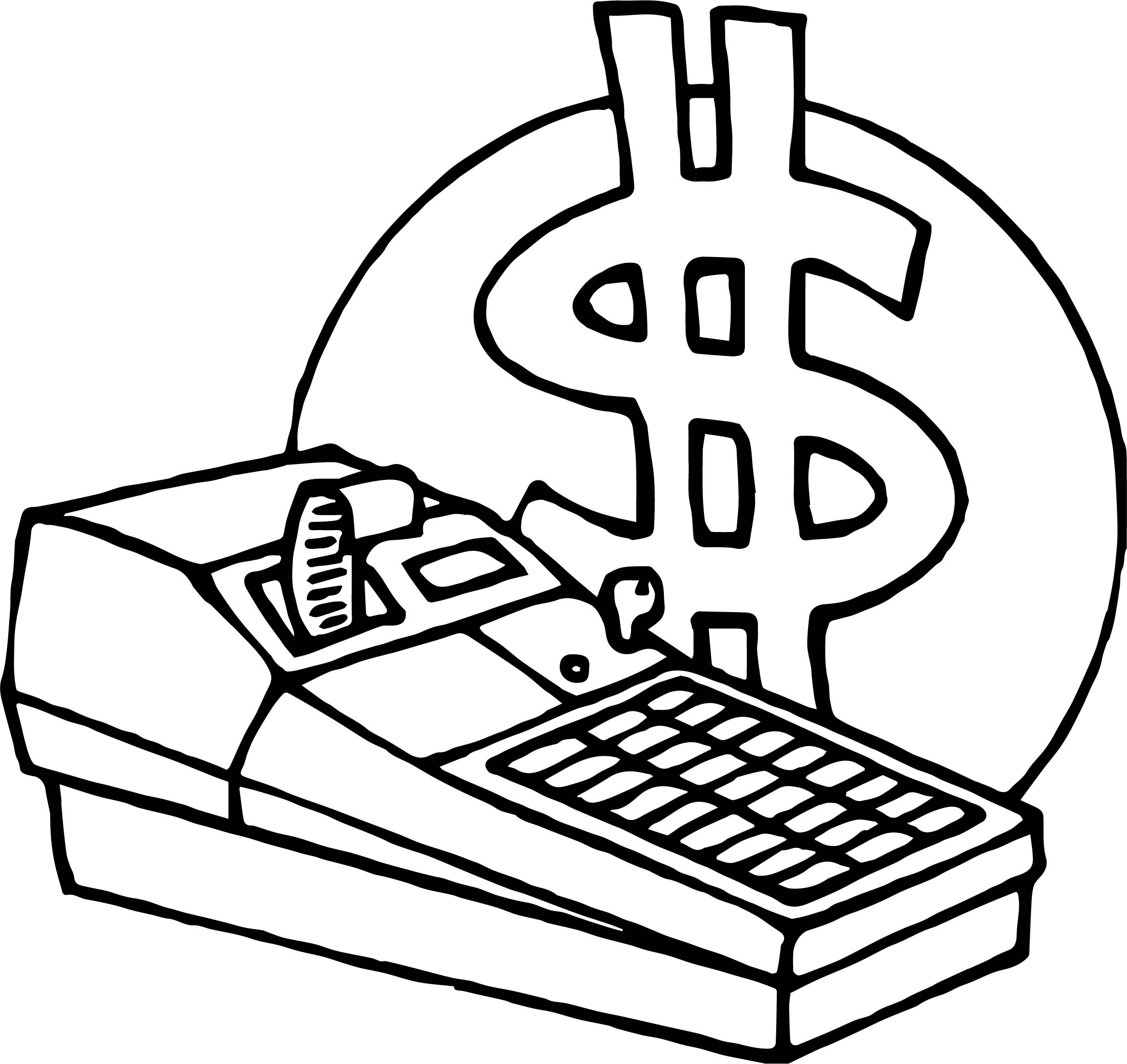 Lunch Money Coloring Page