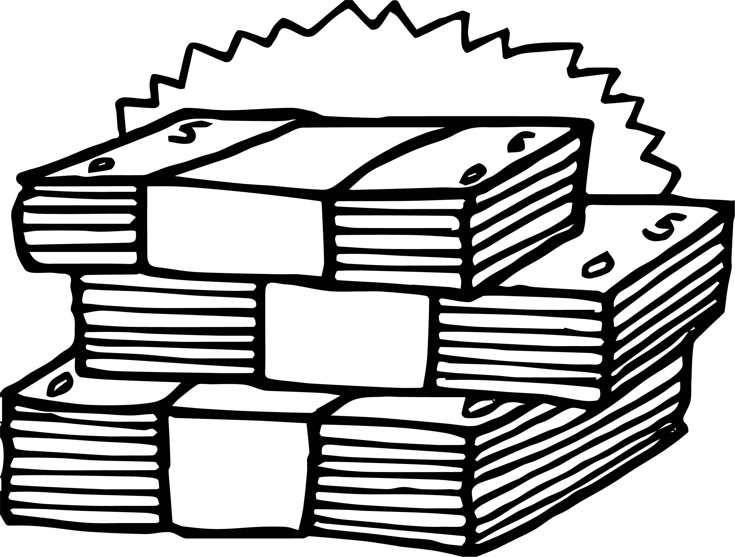 Money Bills Coloring Page