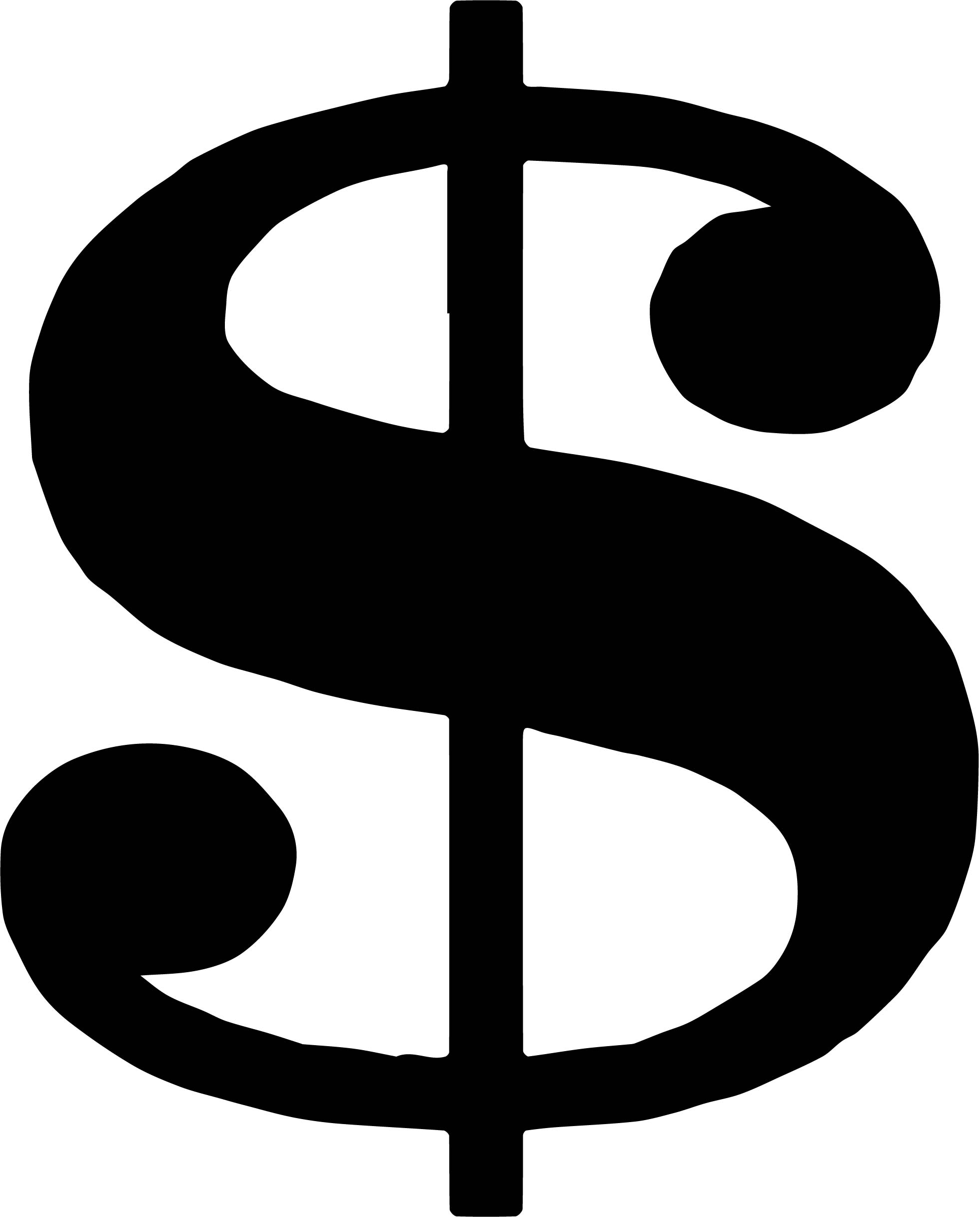Money Black White Money Symbol Coloring Page ...