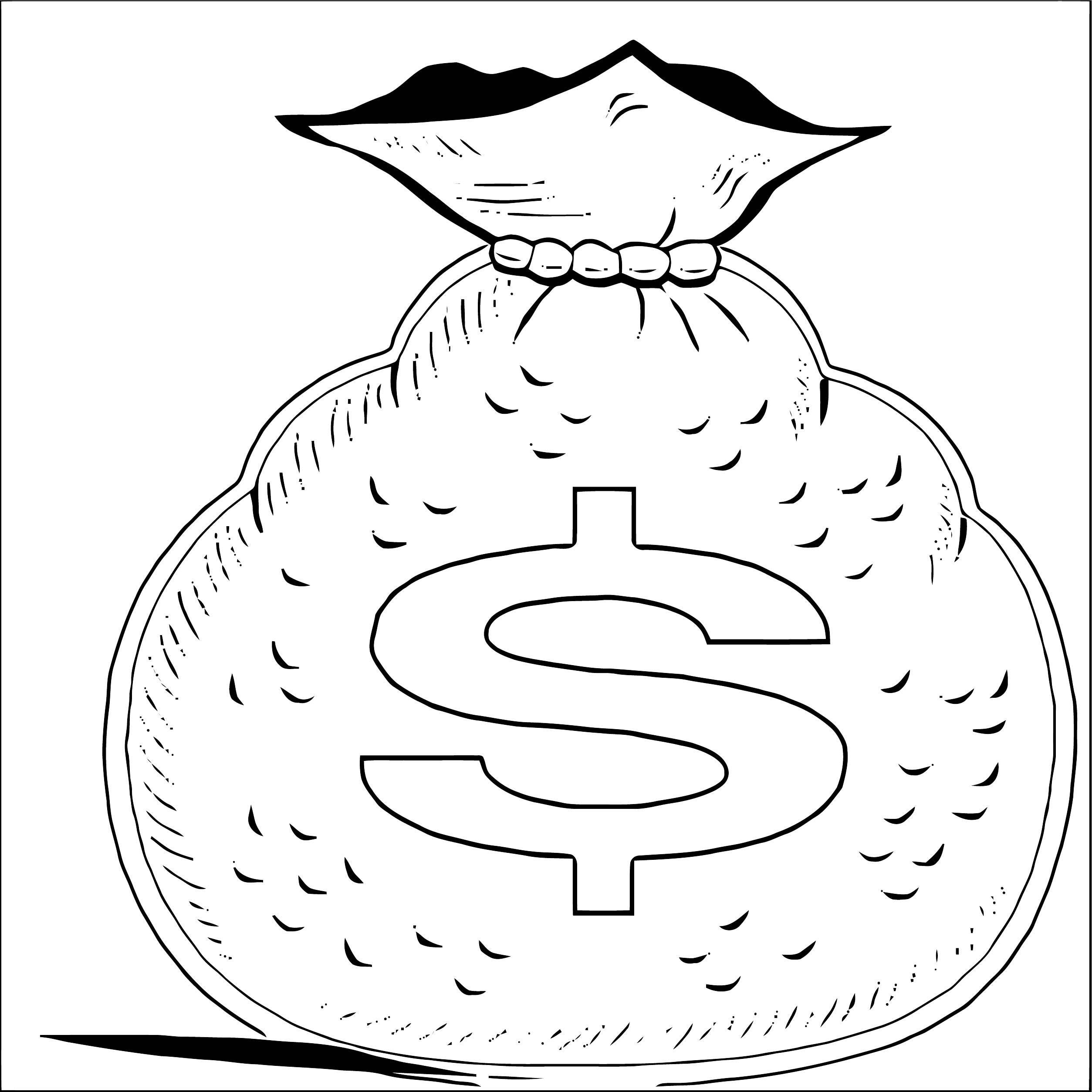 Money Coloring Page 02