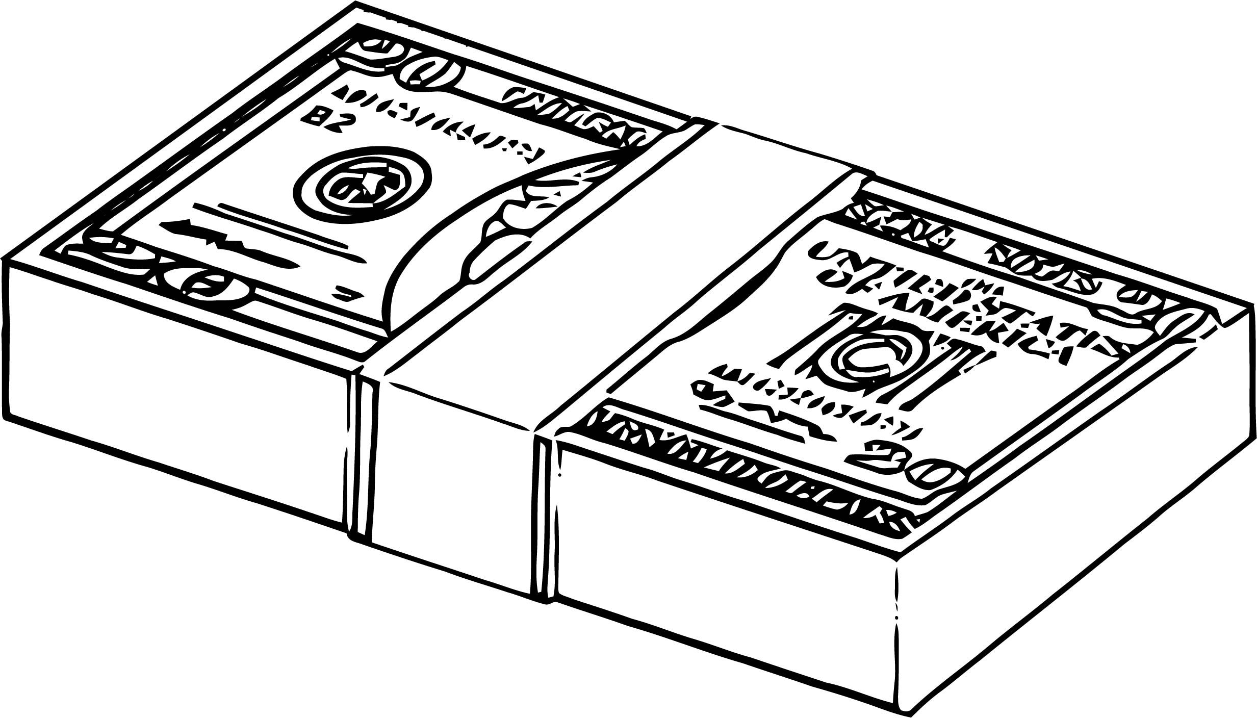 Money Coloring Page 03