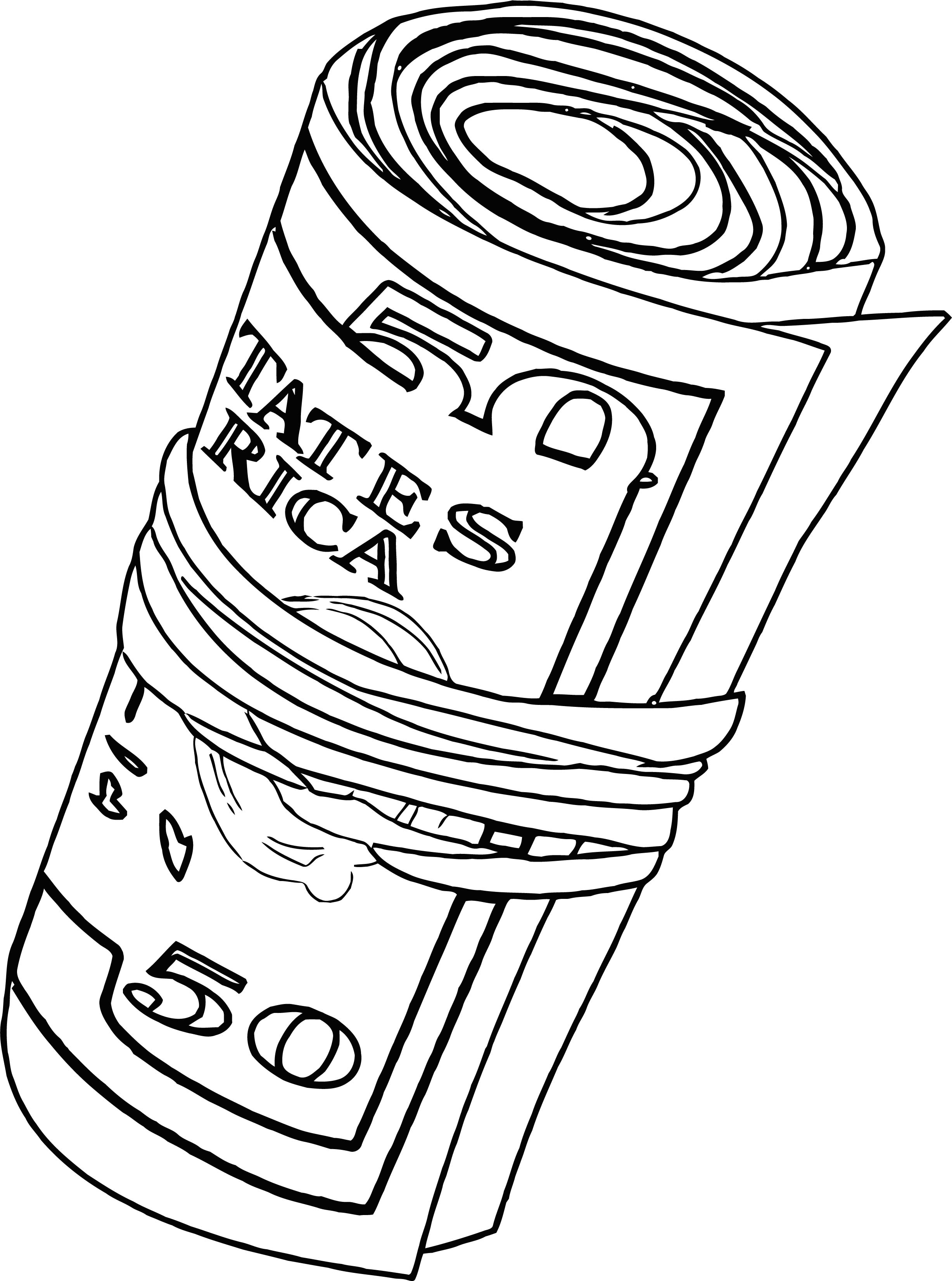 Money Coloring Page 04