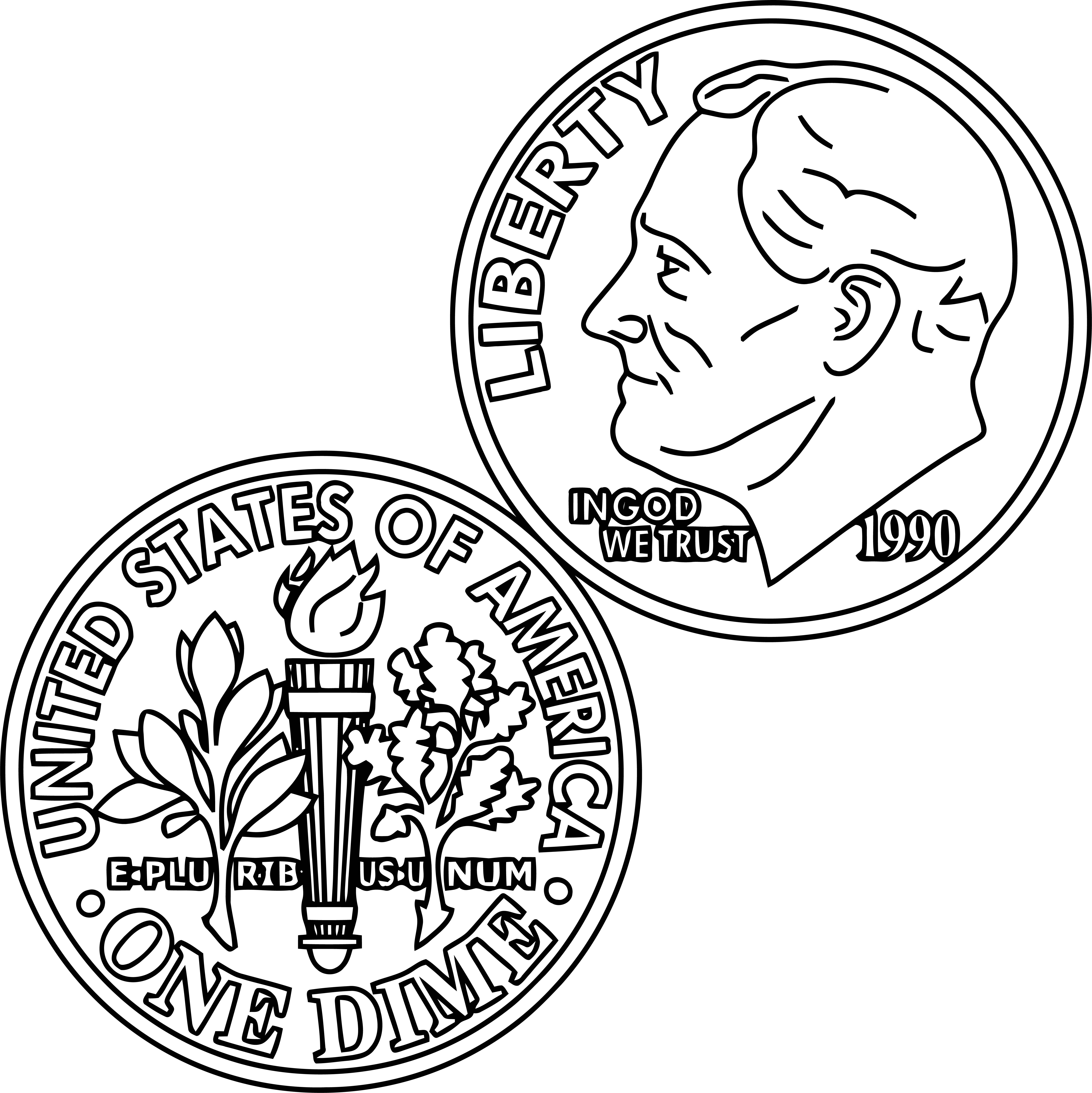 Money Coloring Page 14