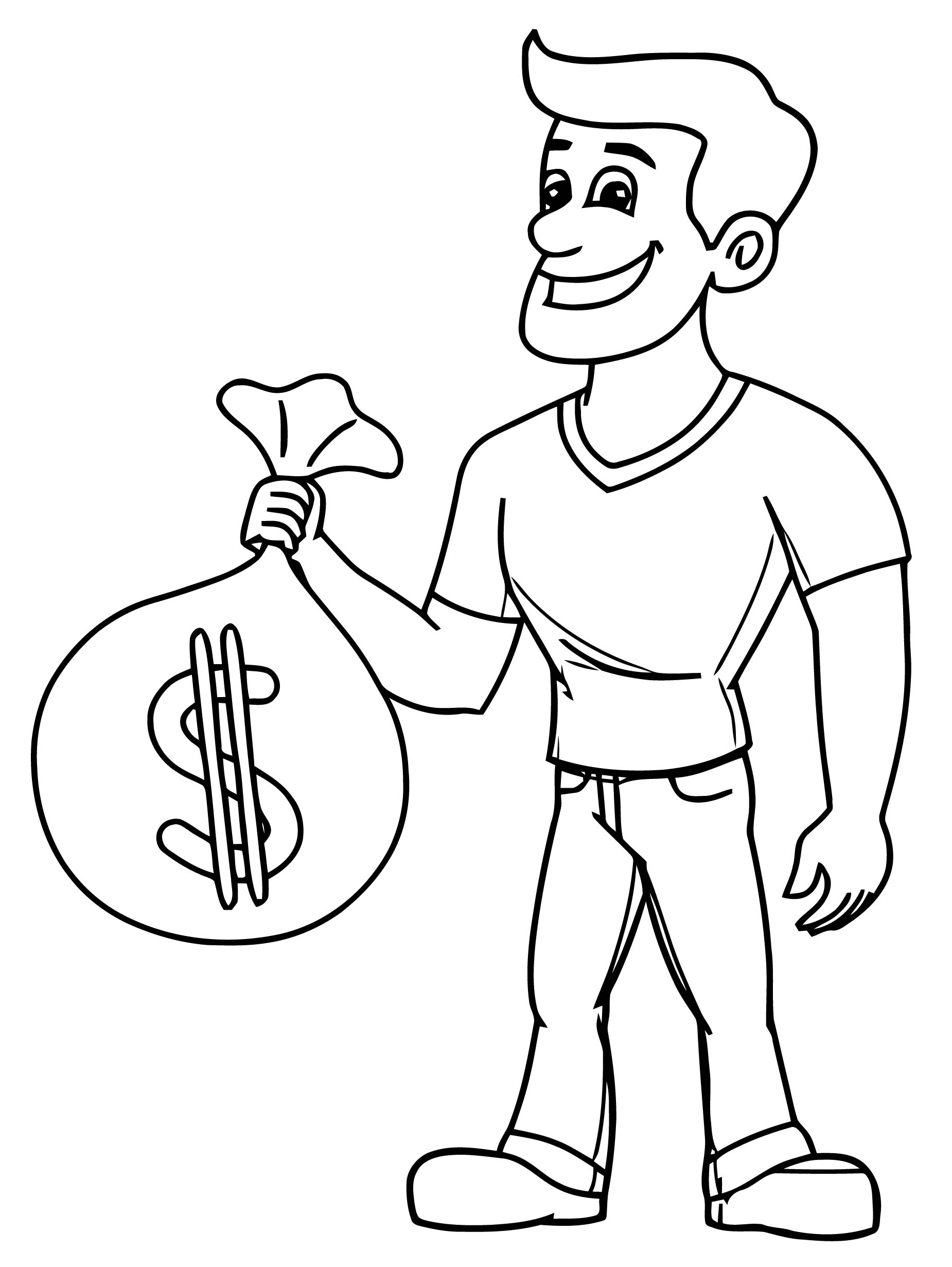 Money Coloring Page 33