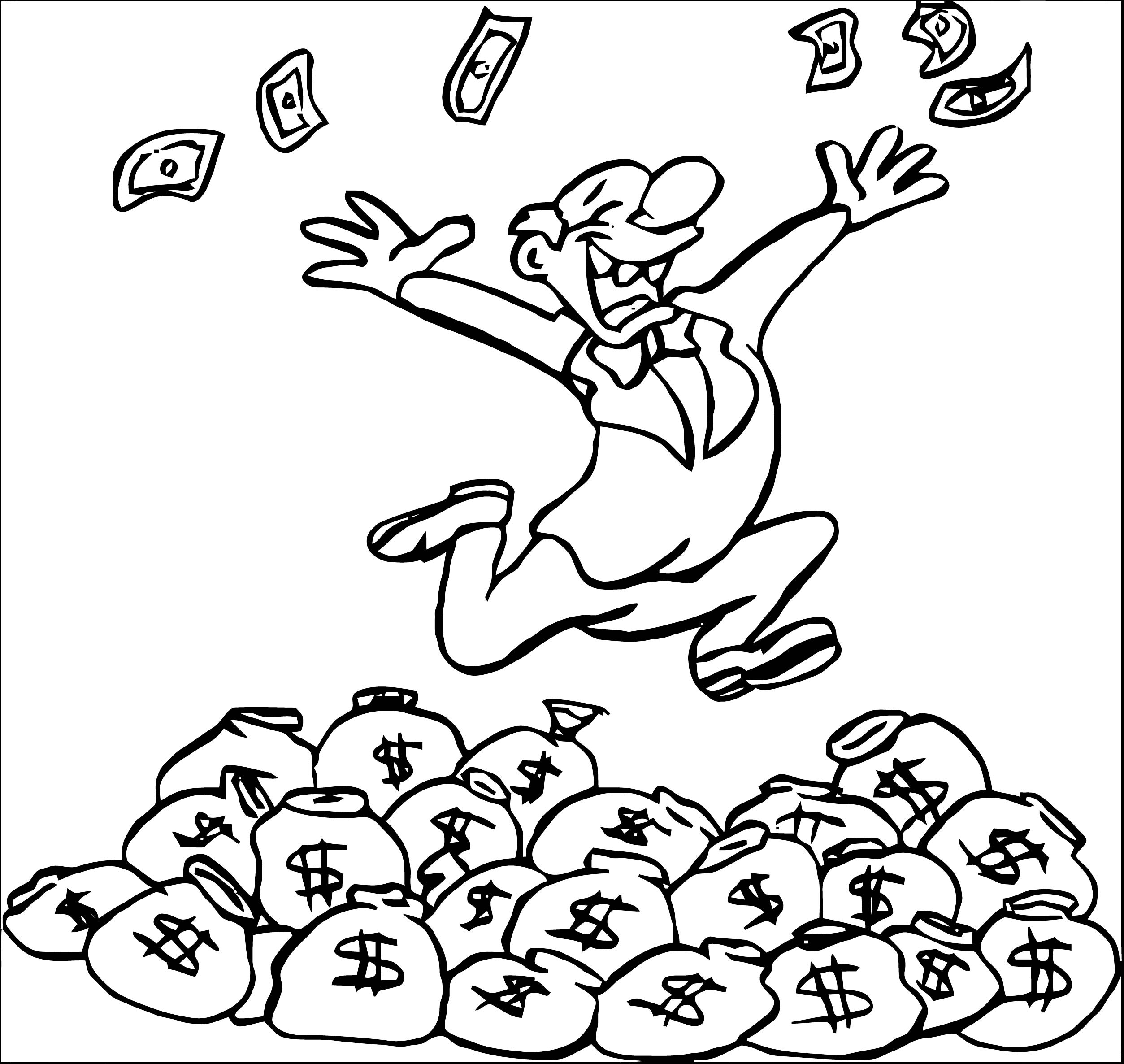 Money Coloring Page 34