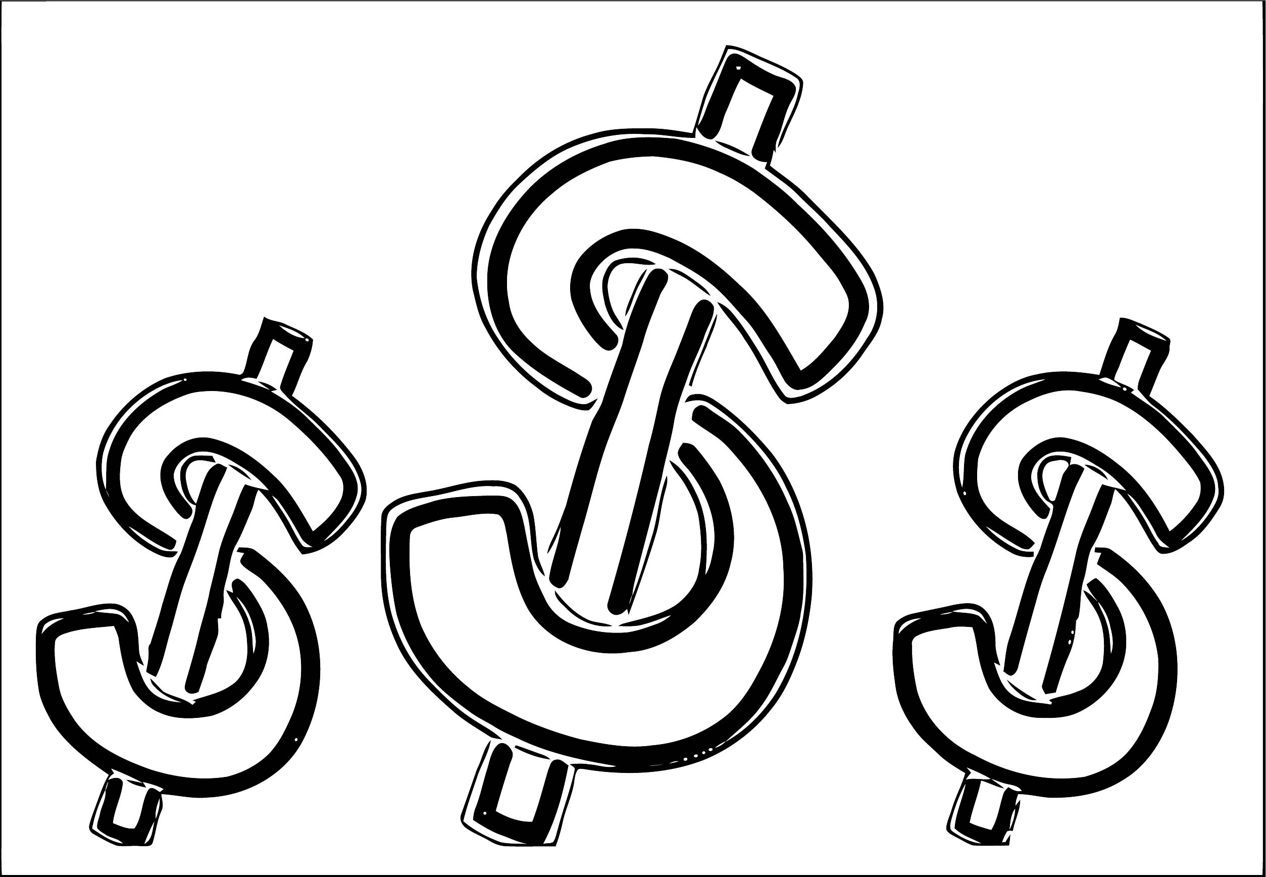 Money Coloring Page 73