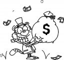 Money Wealthy Image Clip Art Illustration Of A Tiger Smiling Coloring Page