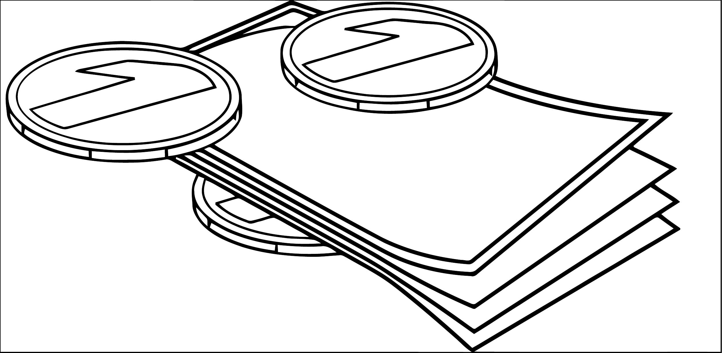 Notes Free Money Money Coloring Page