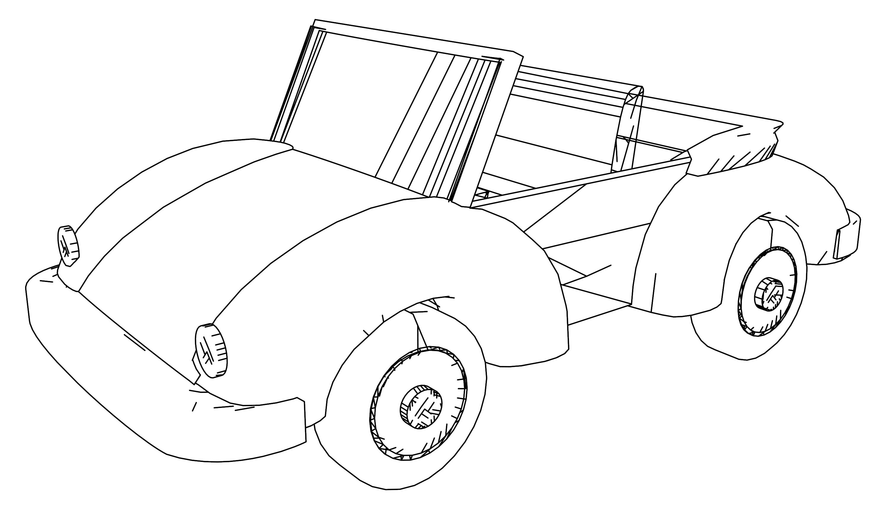 Old Car Draw Coloring Page
