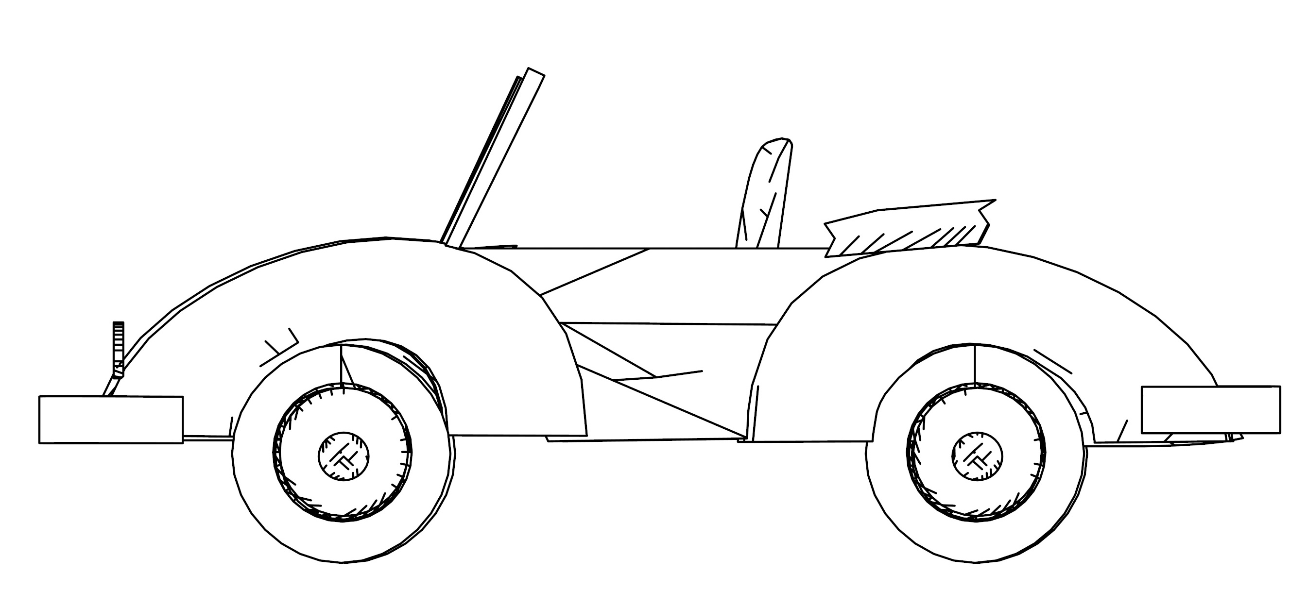 Old Car Side Coloring Page
