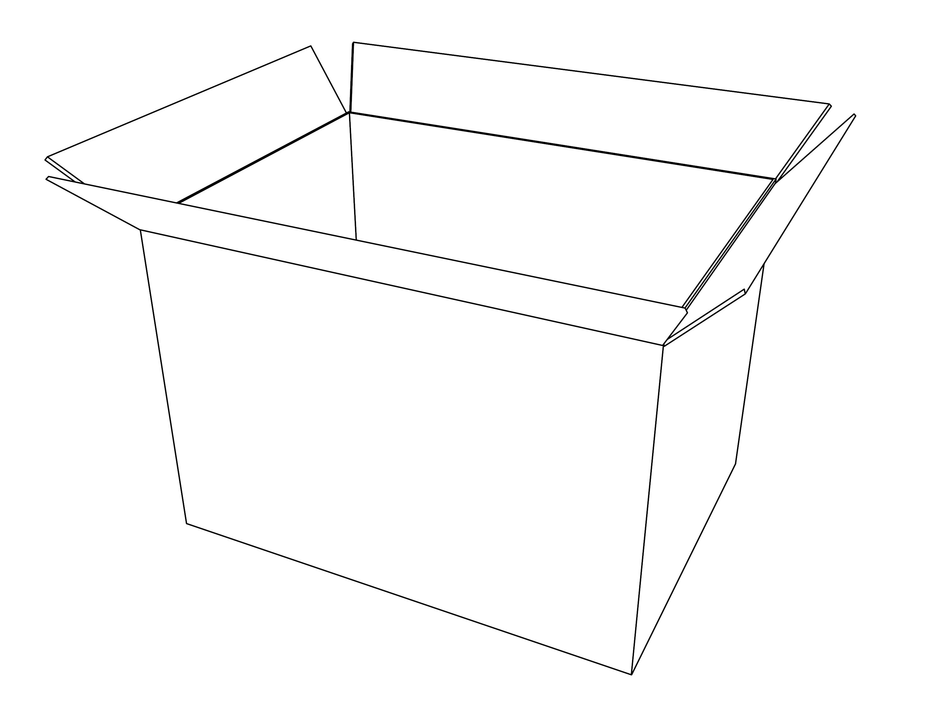 Opened Box Coloring Page