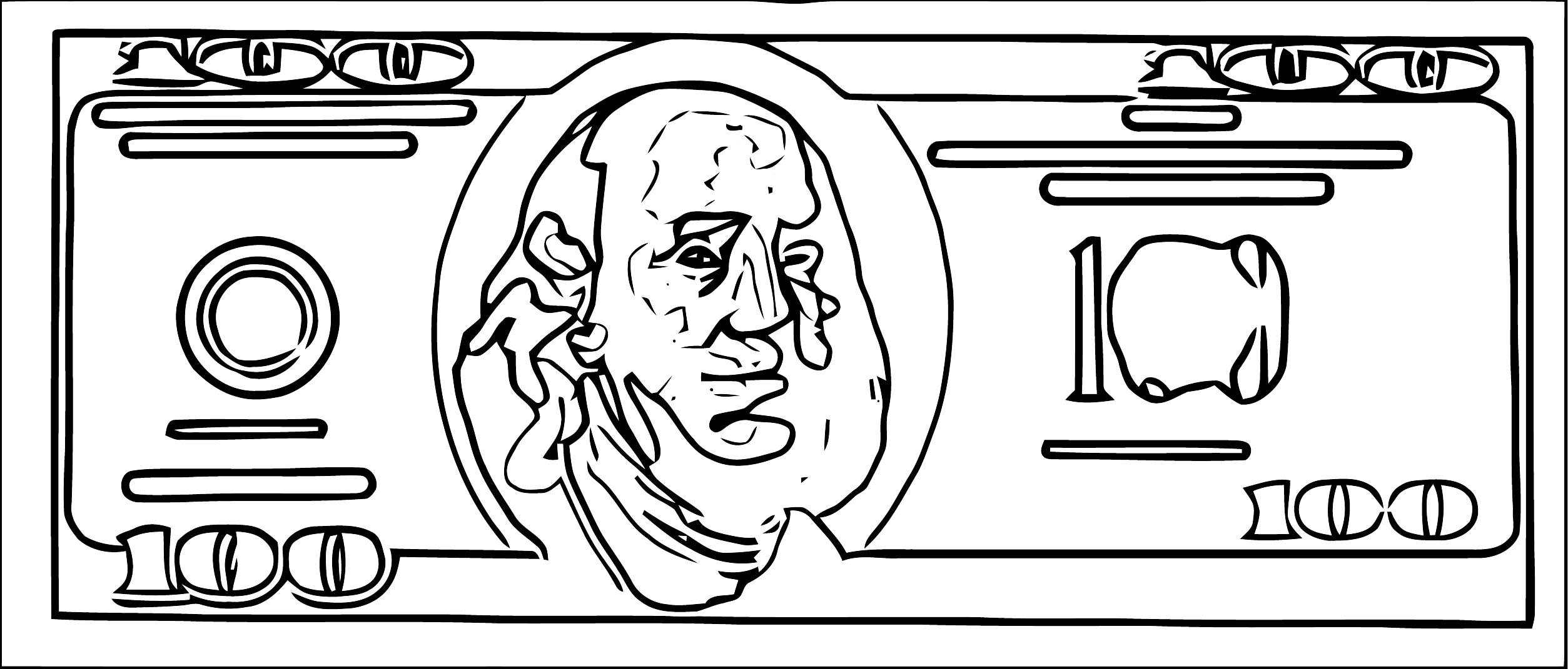 Paper Money Clip Art Free Stock Photo Public Domain Pictures Coloring Page