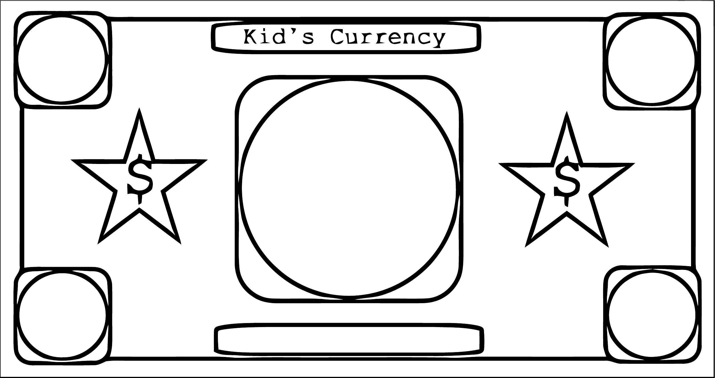 Printable Money Coloring Page