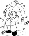 Raining Money 1 Coloring Page