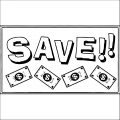 Save Money Coloring Page