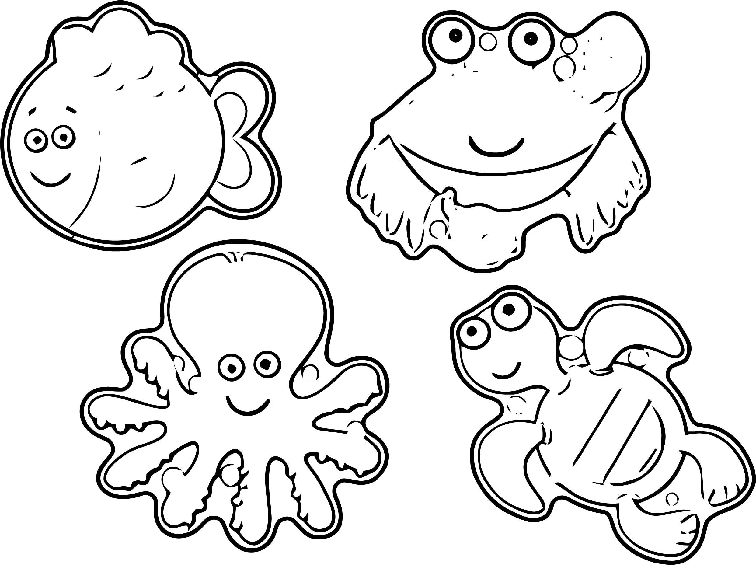 Sea Animals Coloring Page WeColoringPage 23