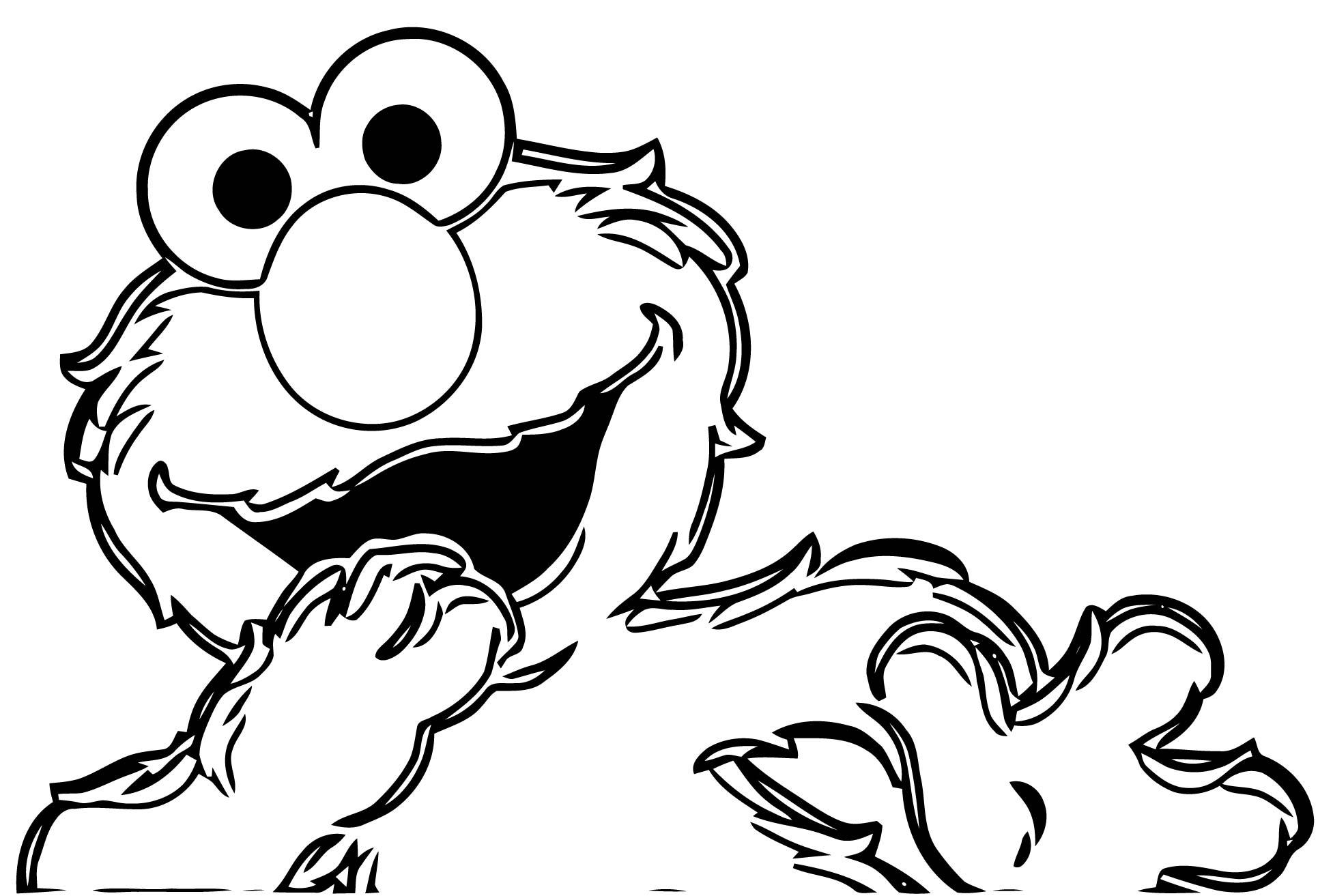 Sesame Street Elmo Coloring Page WeColoringPage 09
