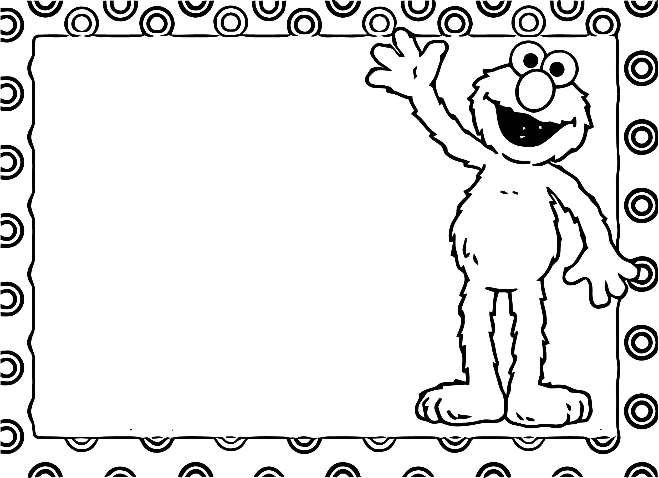 Sesame Street Elmo Coloring Page WeColoringPage 11