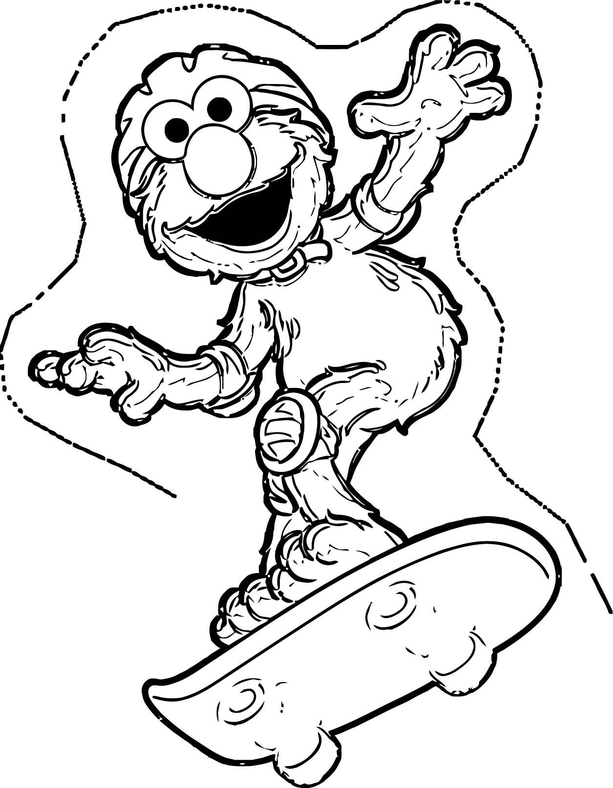 Sesame Street Elmo Coloring Page WeColoringPage 19