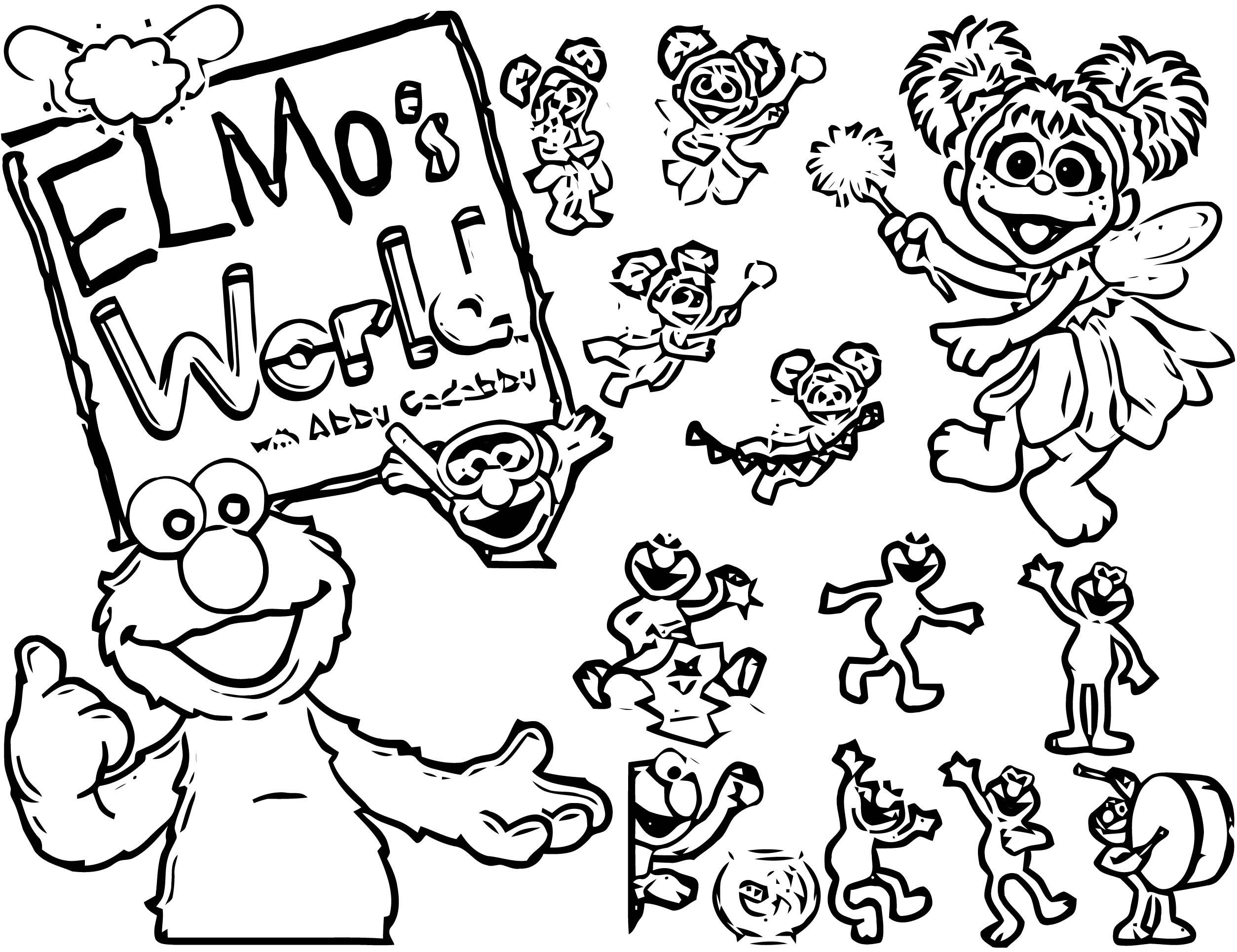 Sesame Street Elmo Coloring Page WeColoringPage 22