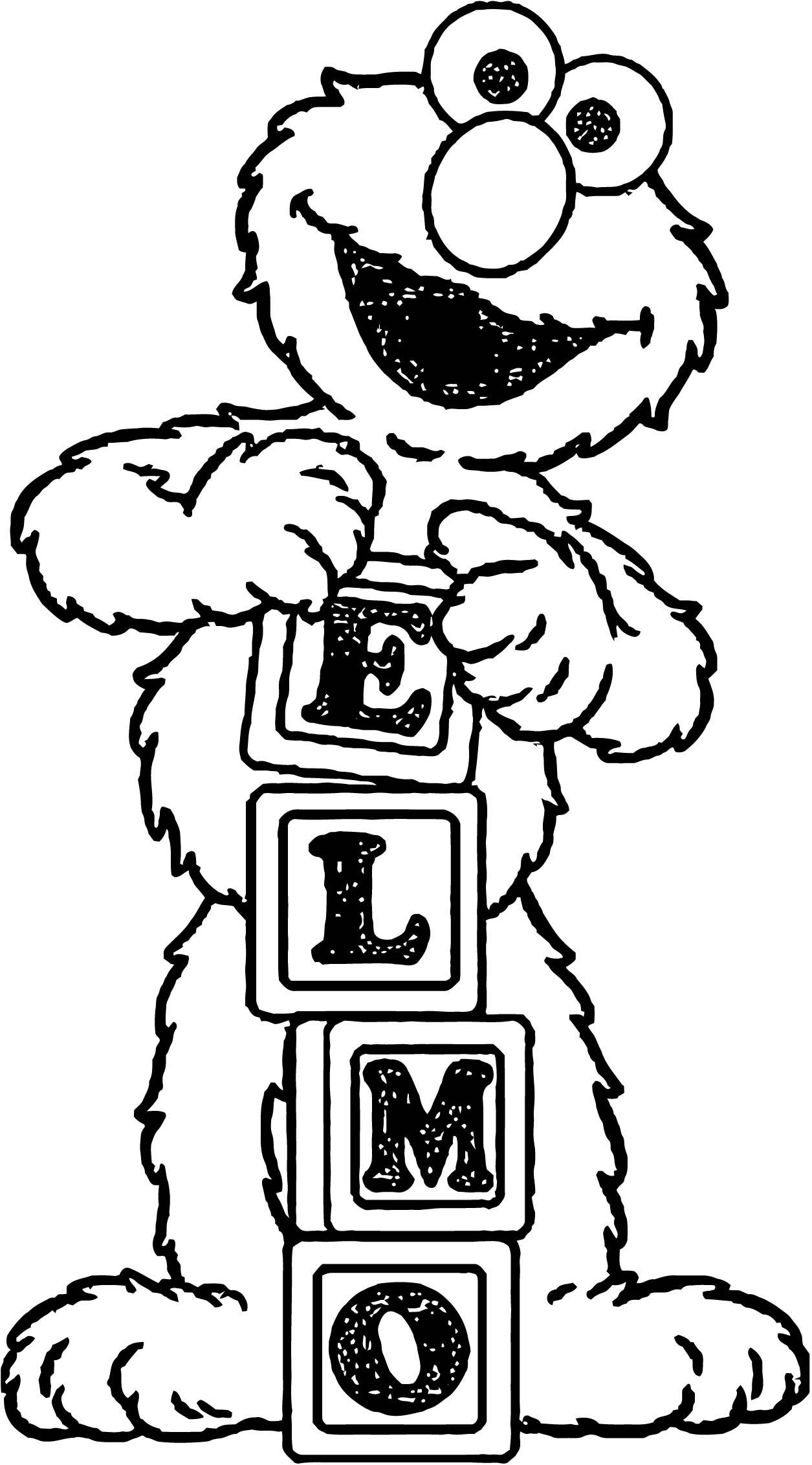 Sesame Street Elmo Coloring Page WeColoringPage 24