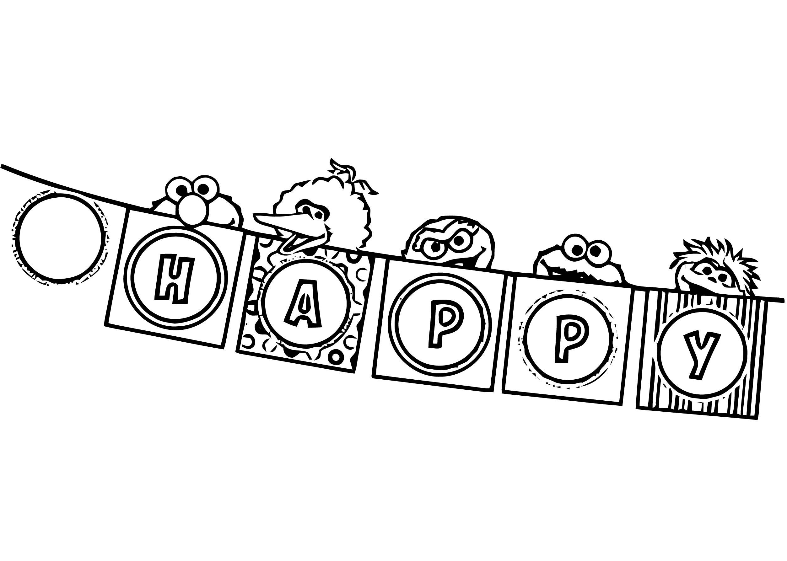 Sesame Street Elmo Coloring Page WeColoringPage 25