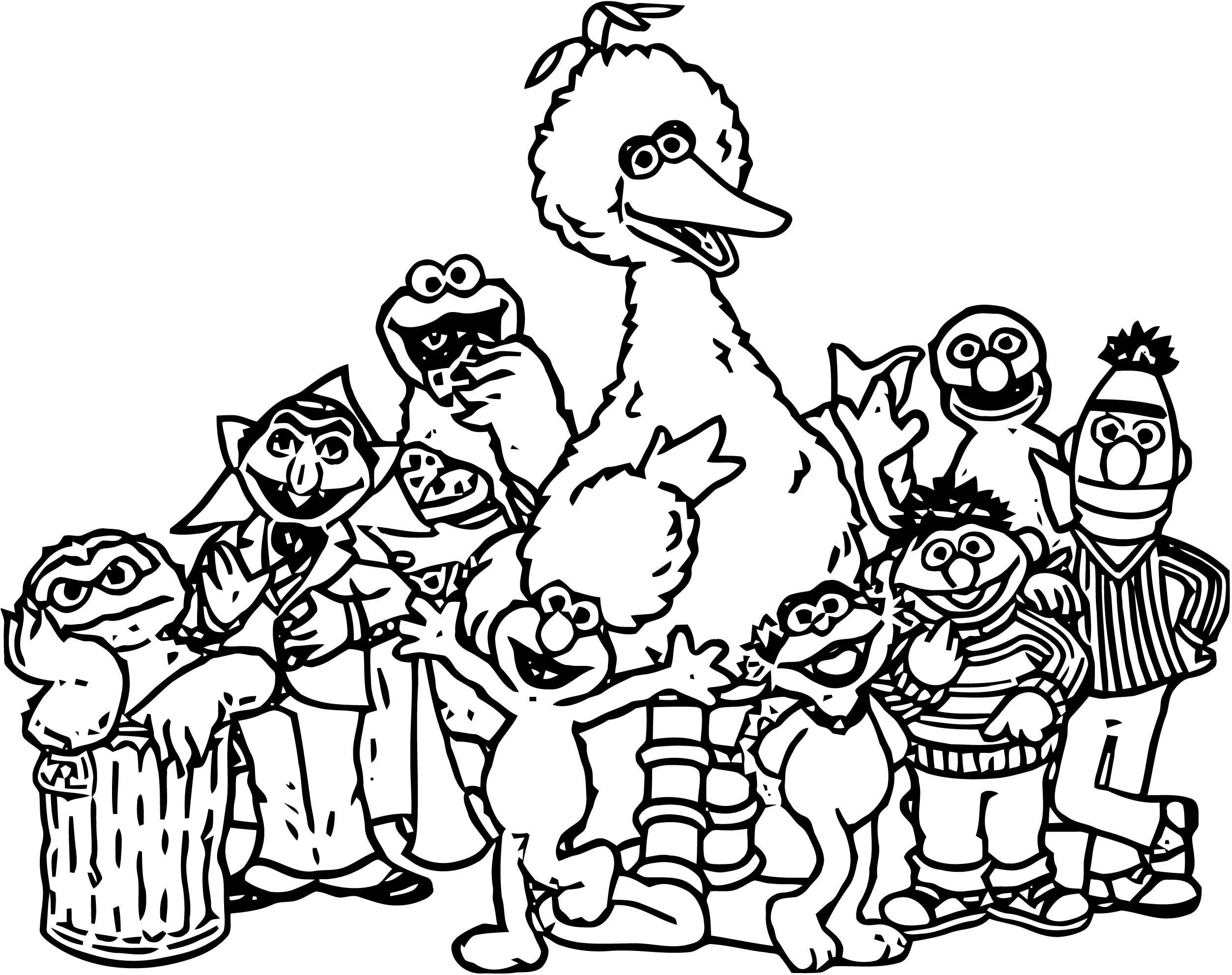Sesame Street Elmo Coloring Page WeColoringPage 40 | Wecoloringpage.com