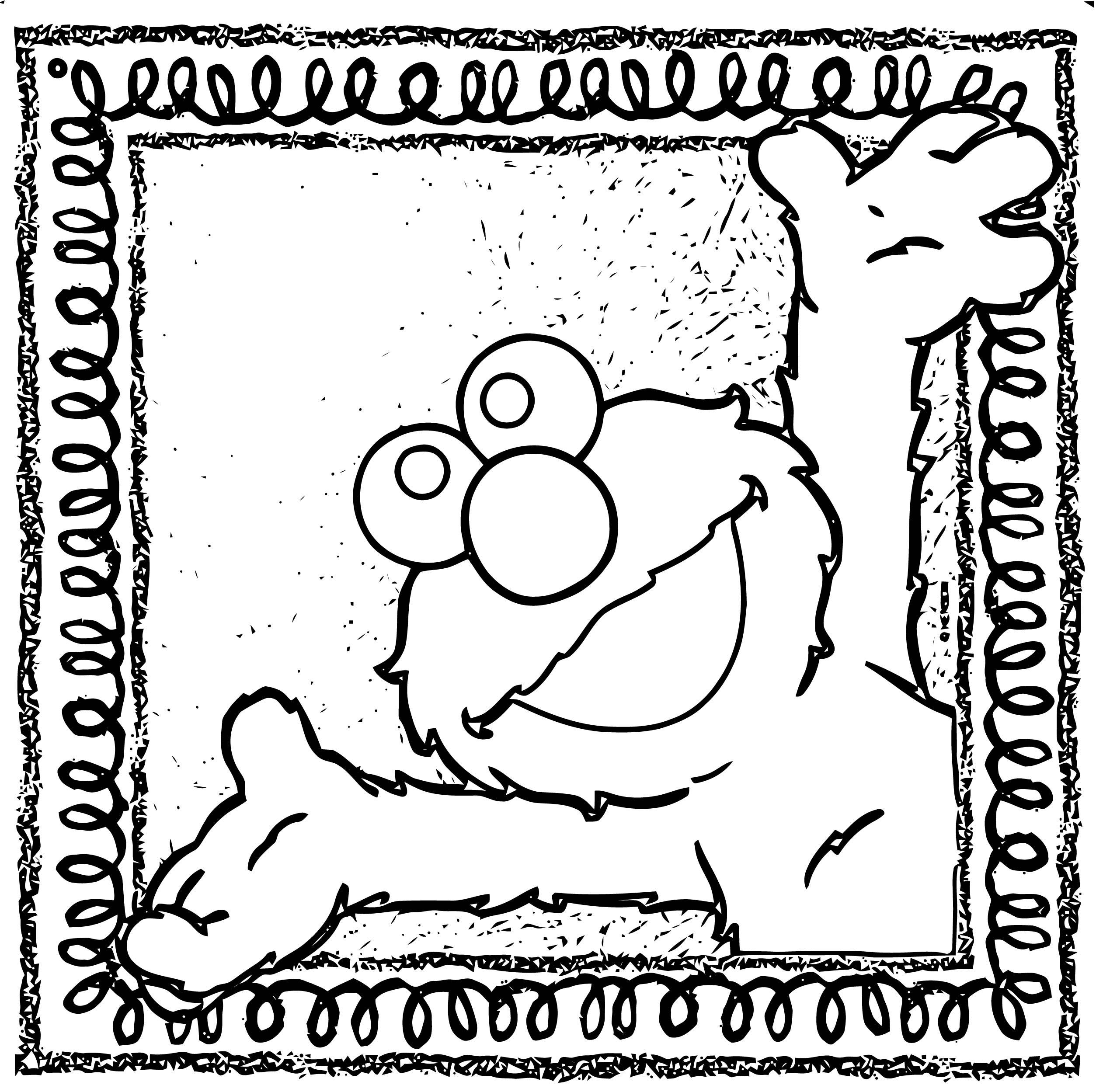 Sesame Street Elmo Coloring Page WeColoringPage 43