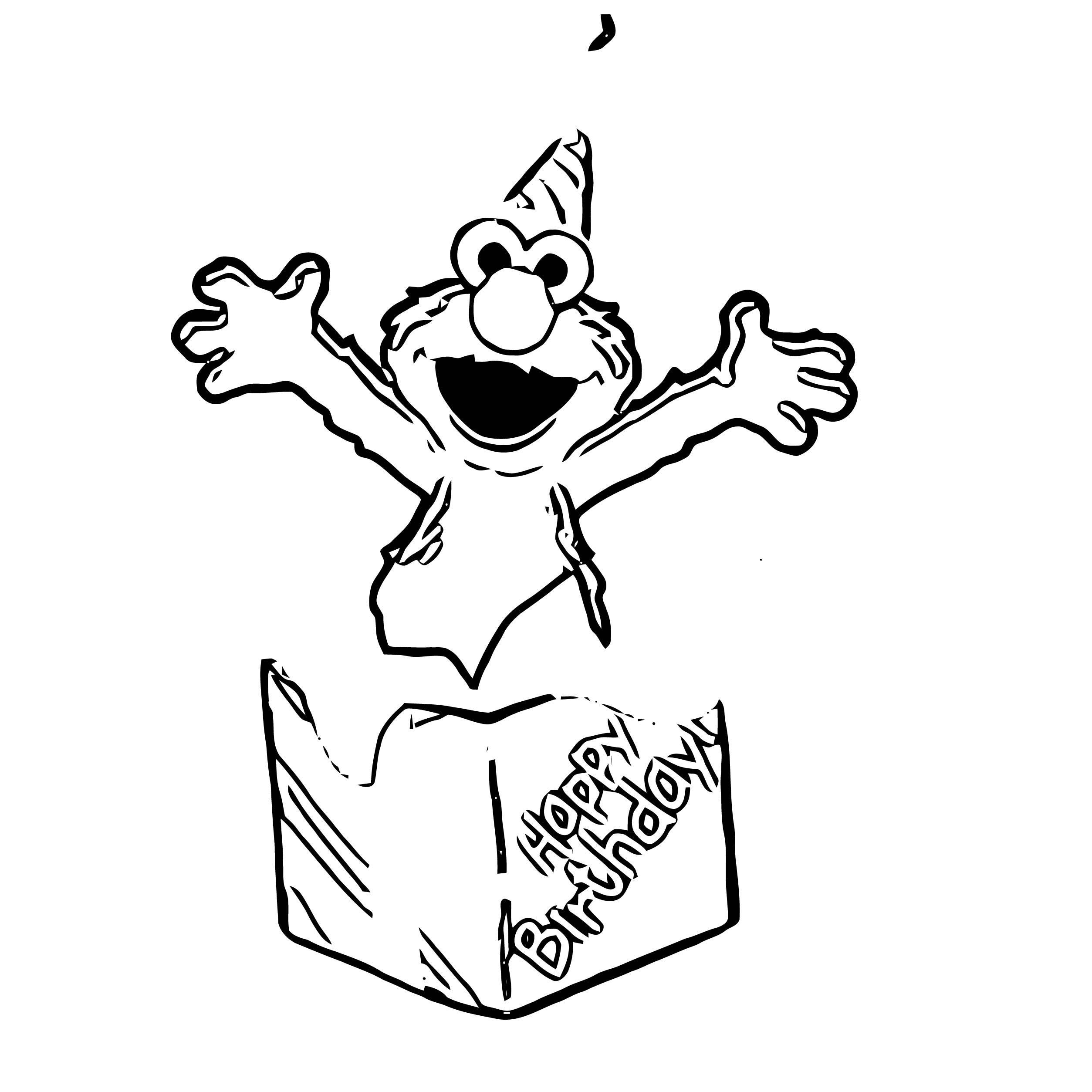 Sesame Street Elmo Coloring Page WeColoringPage 50