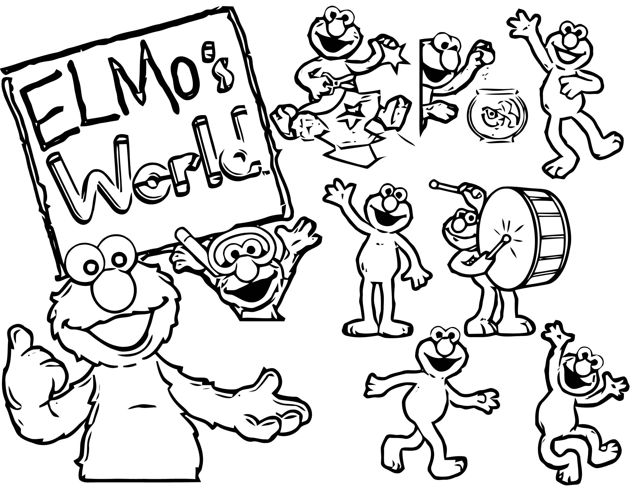 Sesame Street Elmo Coloring Page WeColoringPage 52