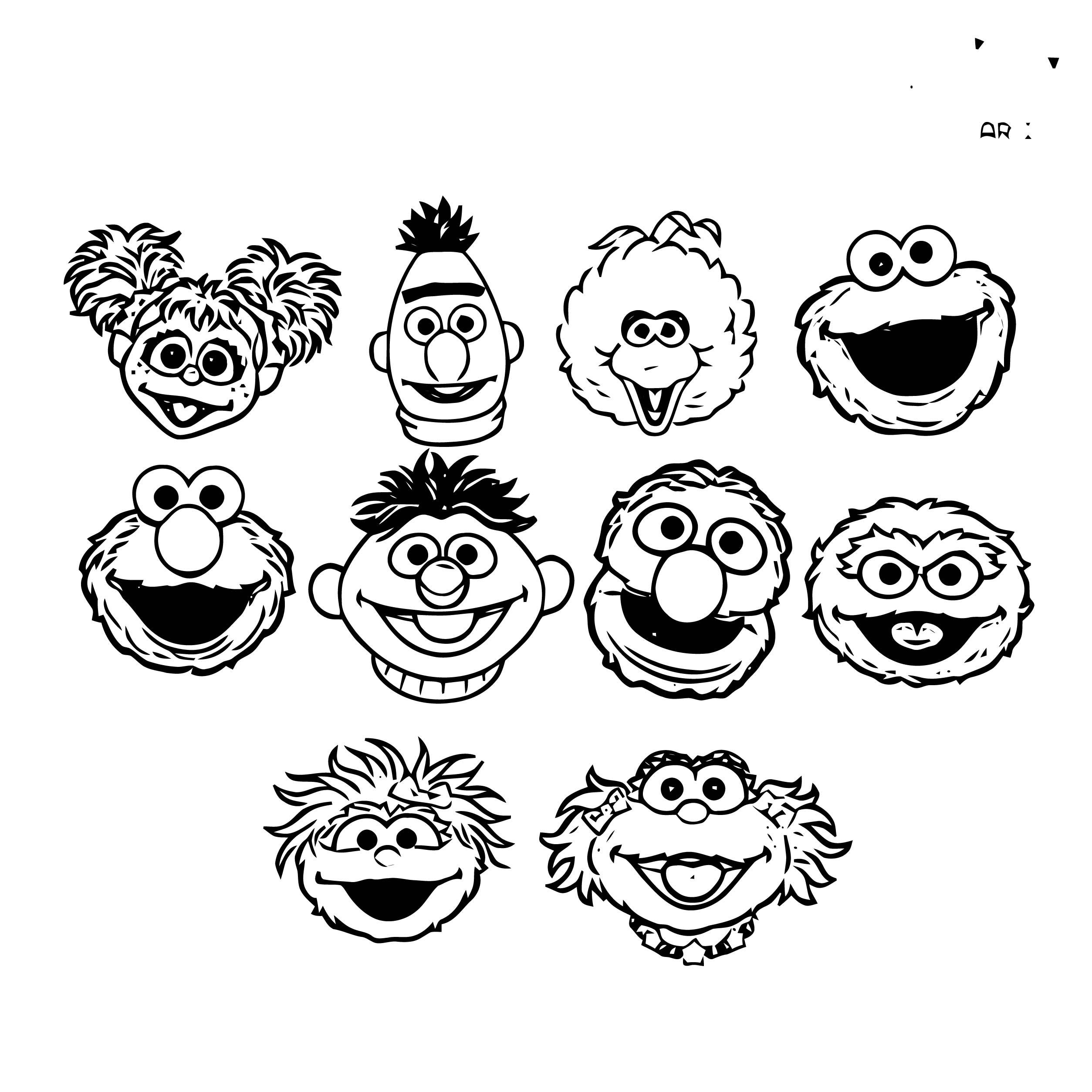 Sesame Street Elmo Coloring Page WeColoringPage 58