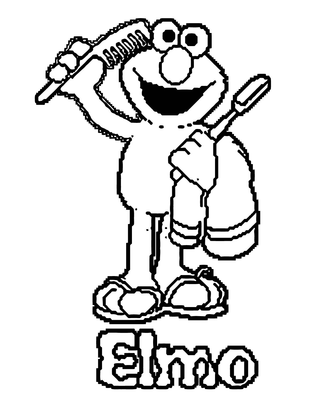 Sesame Street Elmo Coloring Page WeColoringPage 76