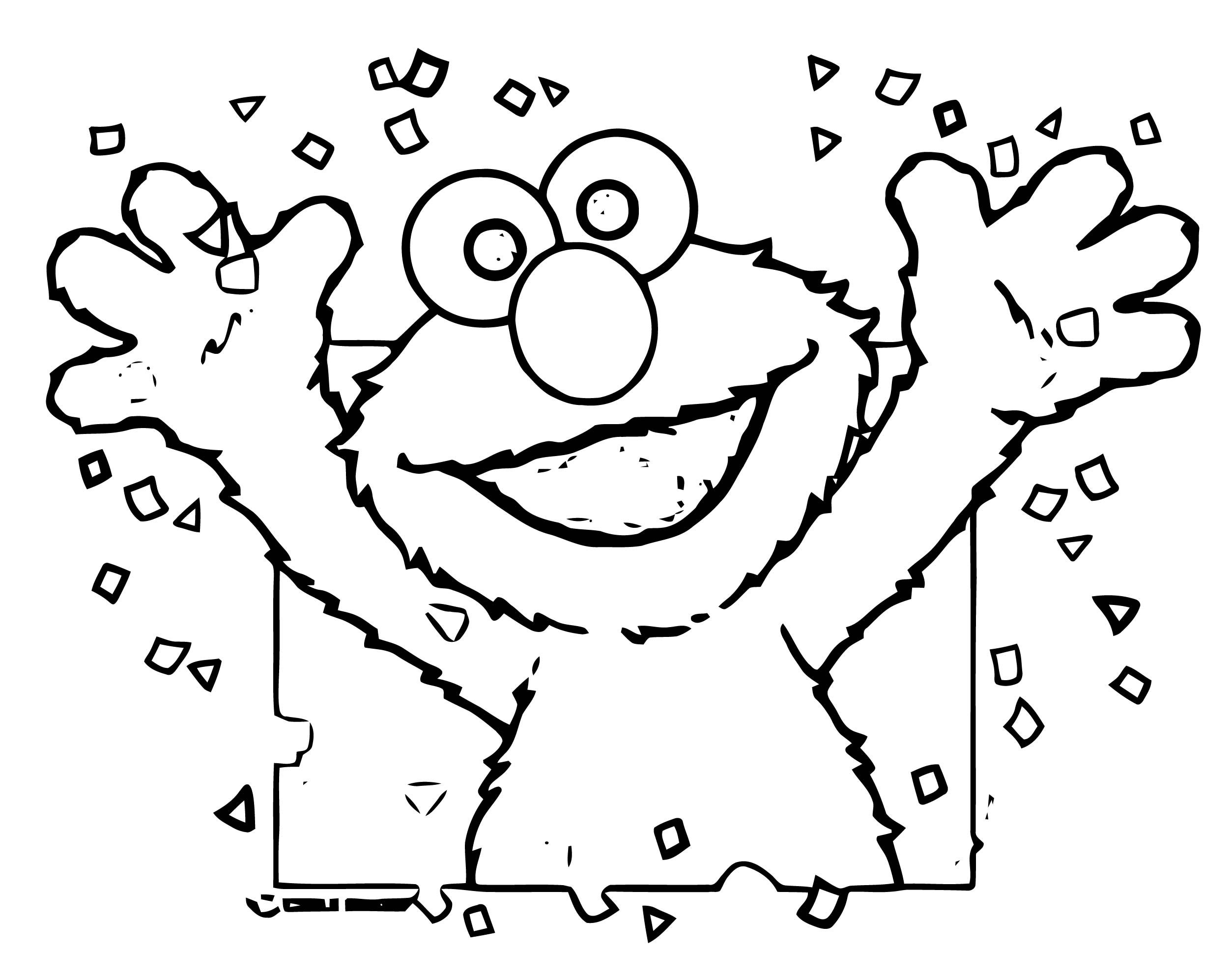 Sesame Street Elmo Coloring Page WeColoringPage 83