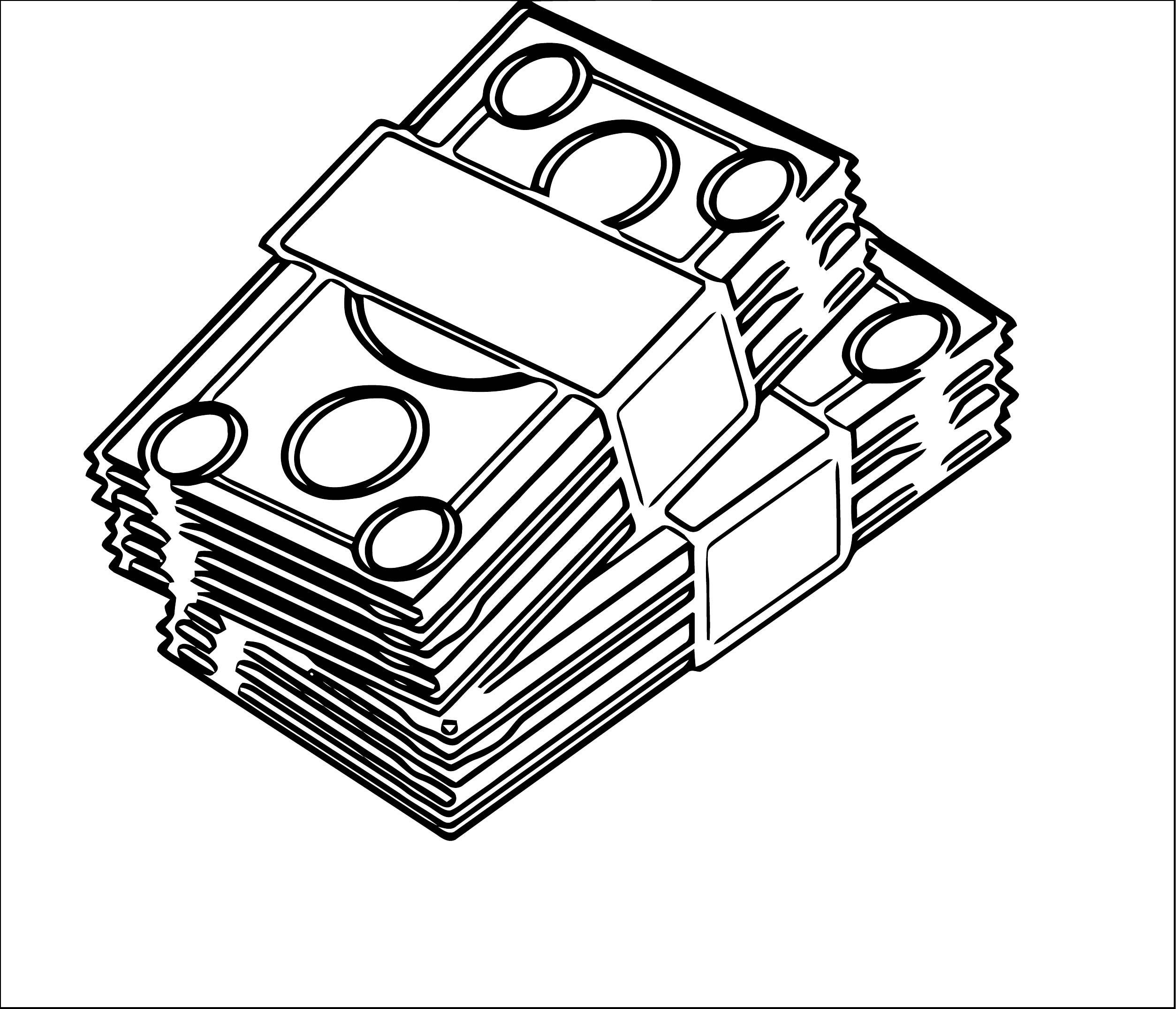 Stack Of Money Coloring Page