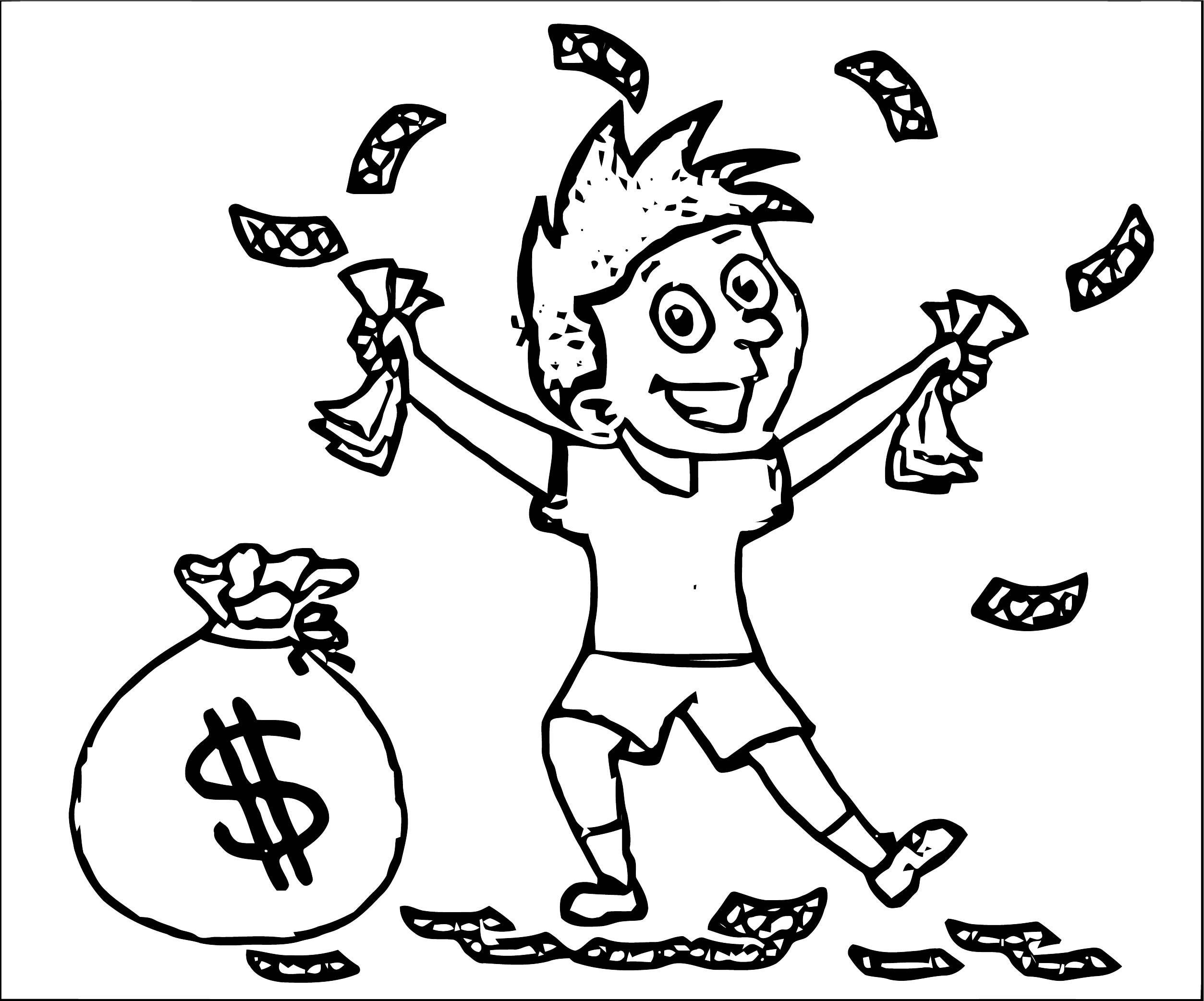 TN Handfull Of Money Coloring Page