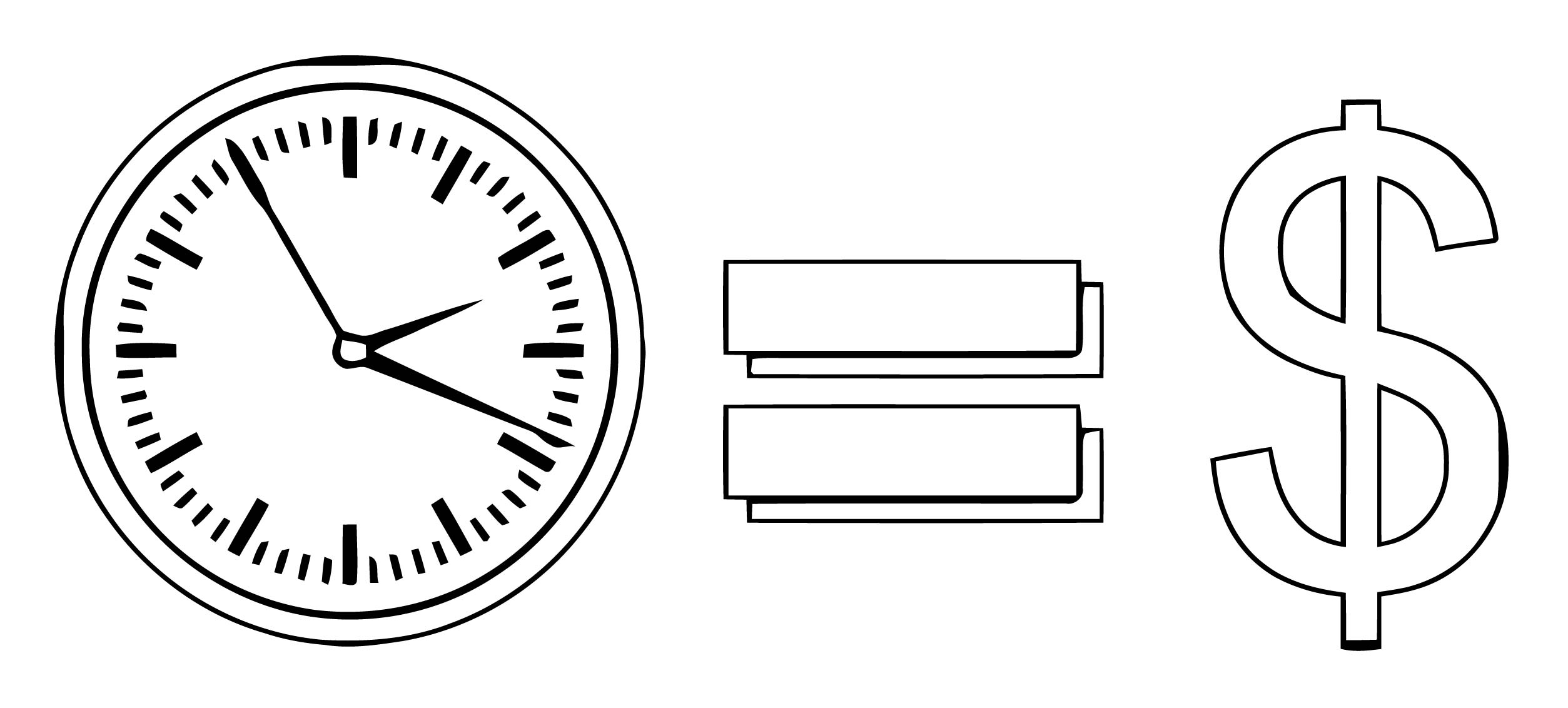 Time Is Money Coloring Page