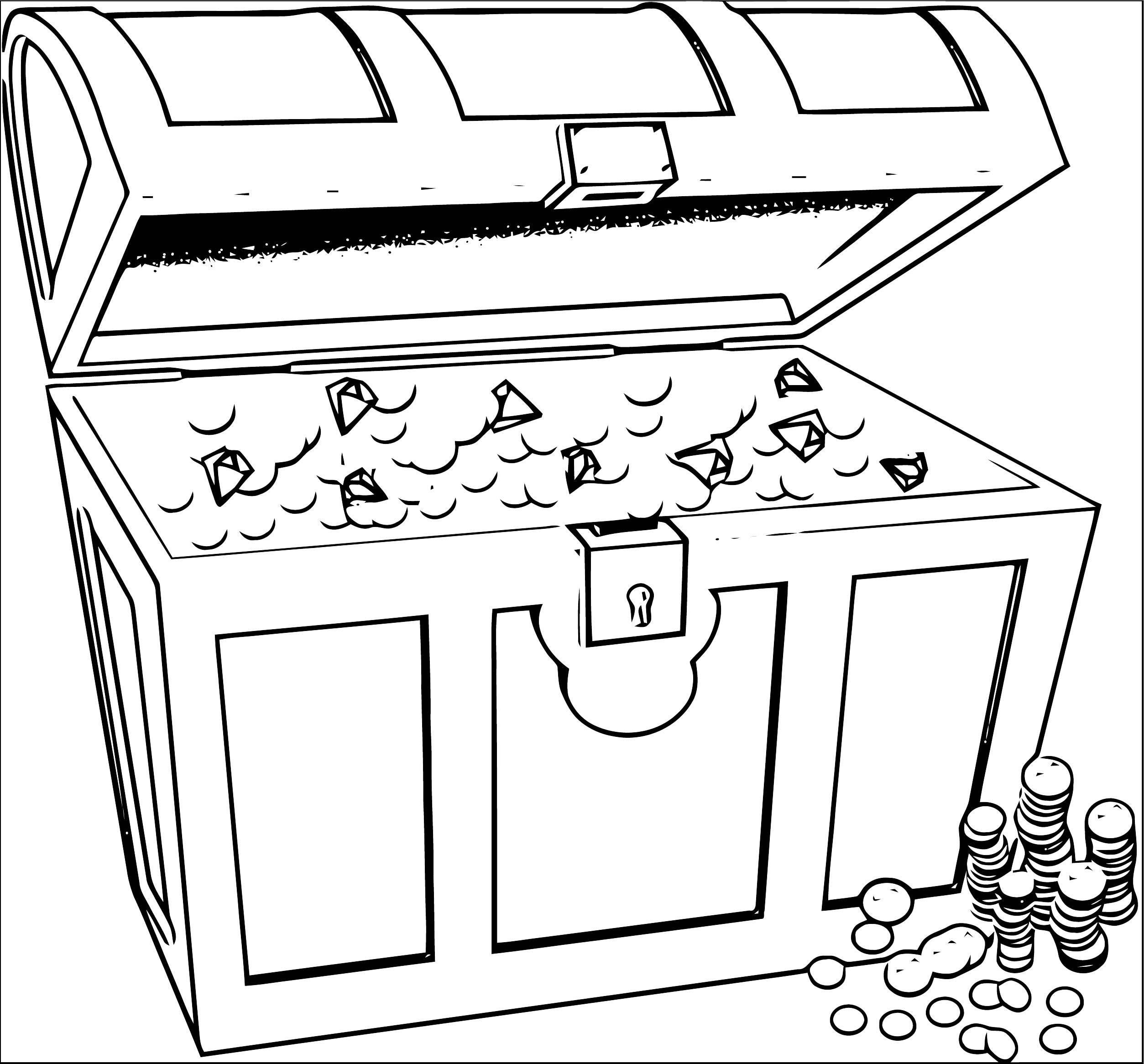Treasurchest Money Coloring Page