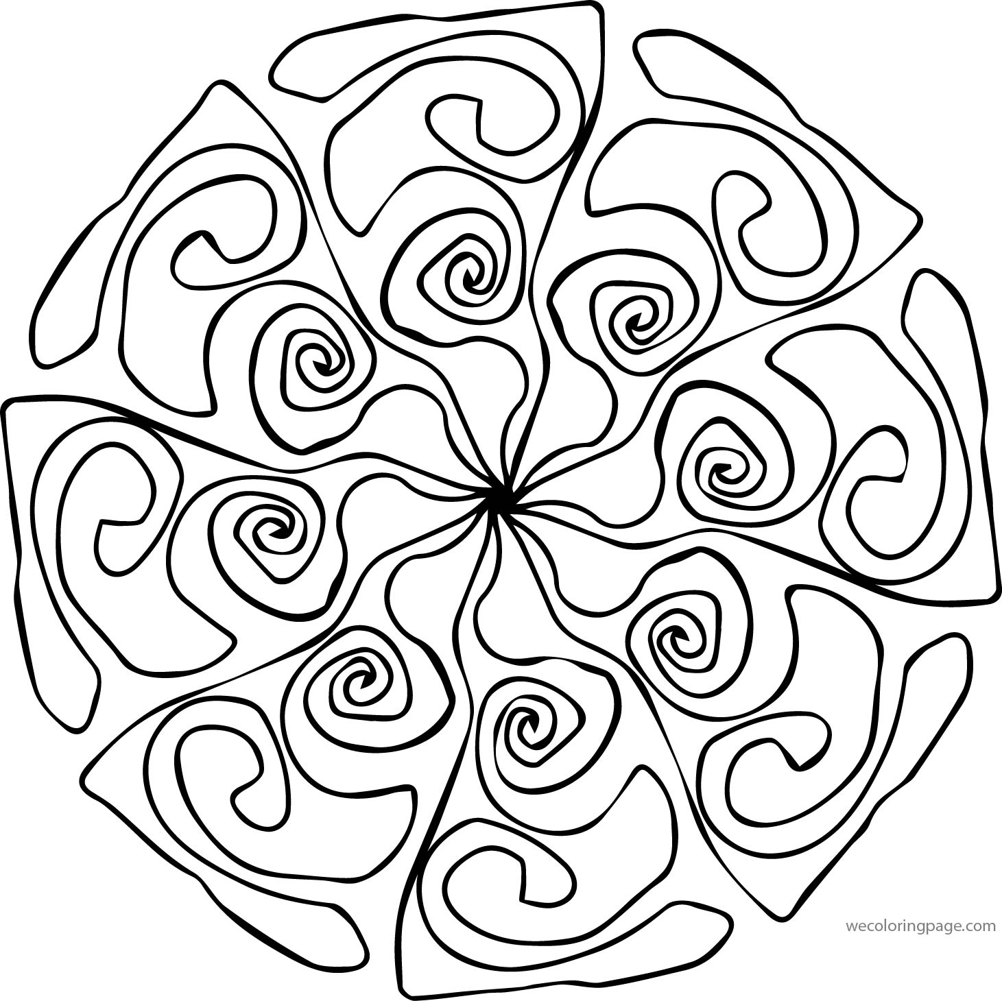 Adult Mandala Shape Orniment Style Coloring Page 08