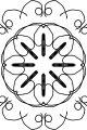 Adult Mandala Shape Orniment Style Coloring Page 20