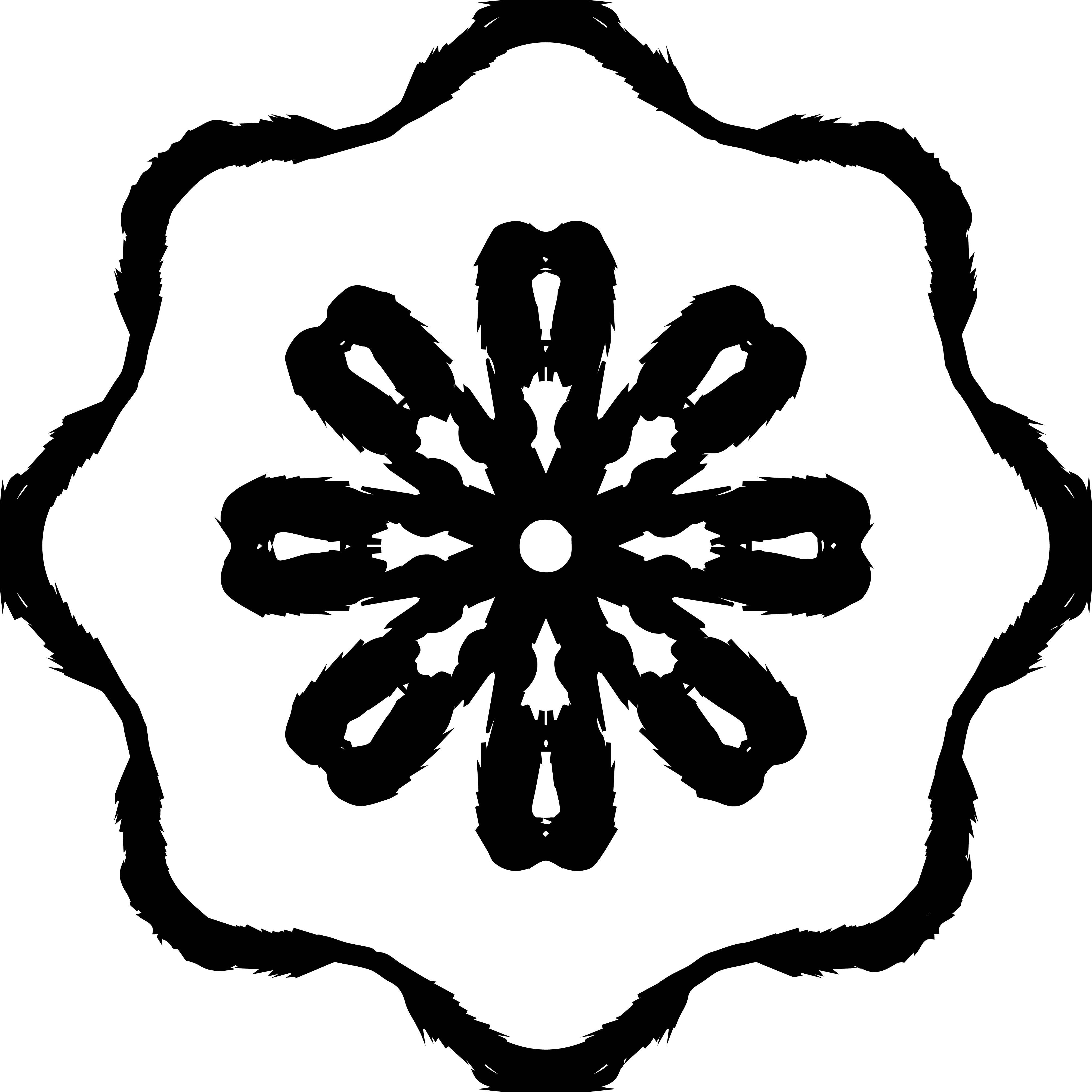 Adult Mandala Shape Orniment Style Coloring Page 21