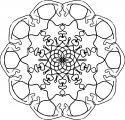 Adult Mandala Shape Orniment Style Coloring Page 32