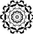 Adult Mandala Shape Orniment Style Coloring Page 35