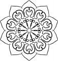 Adult Mandala Shape Orniment Style Coloring Page 37