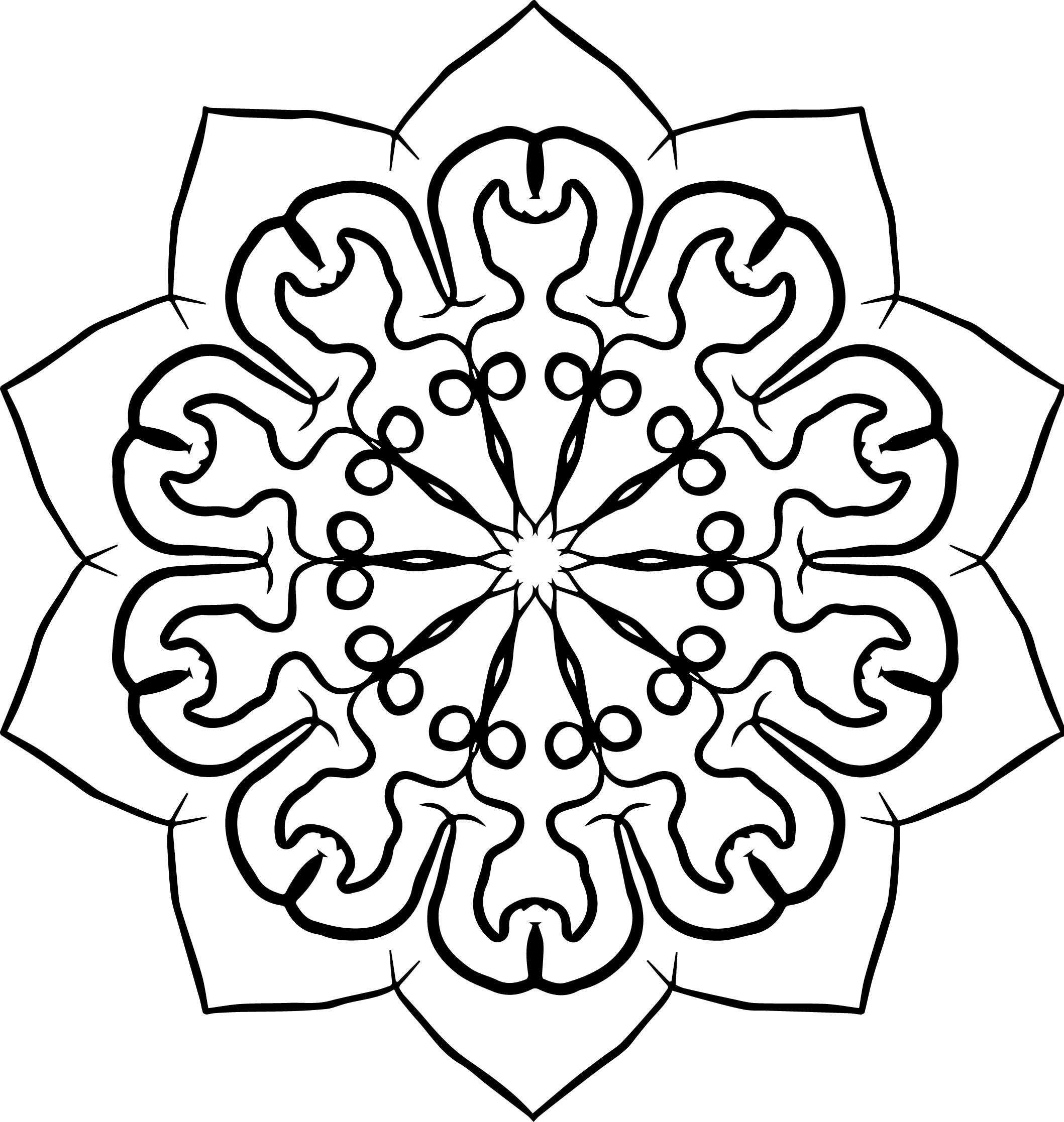 Adult Mandala Shape Orniment Style Coloring Page 37