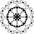 Adult Mandala Shape Orniment Style Coloring Page 39