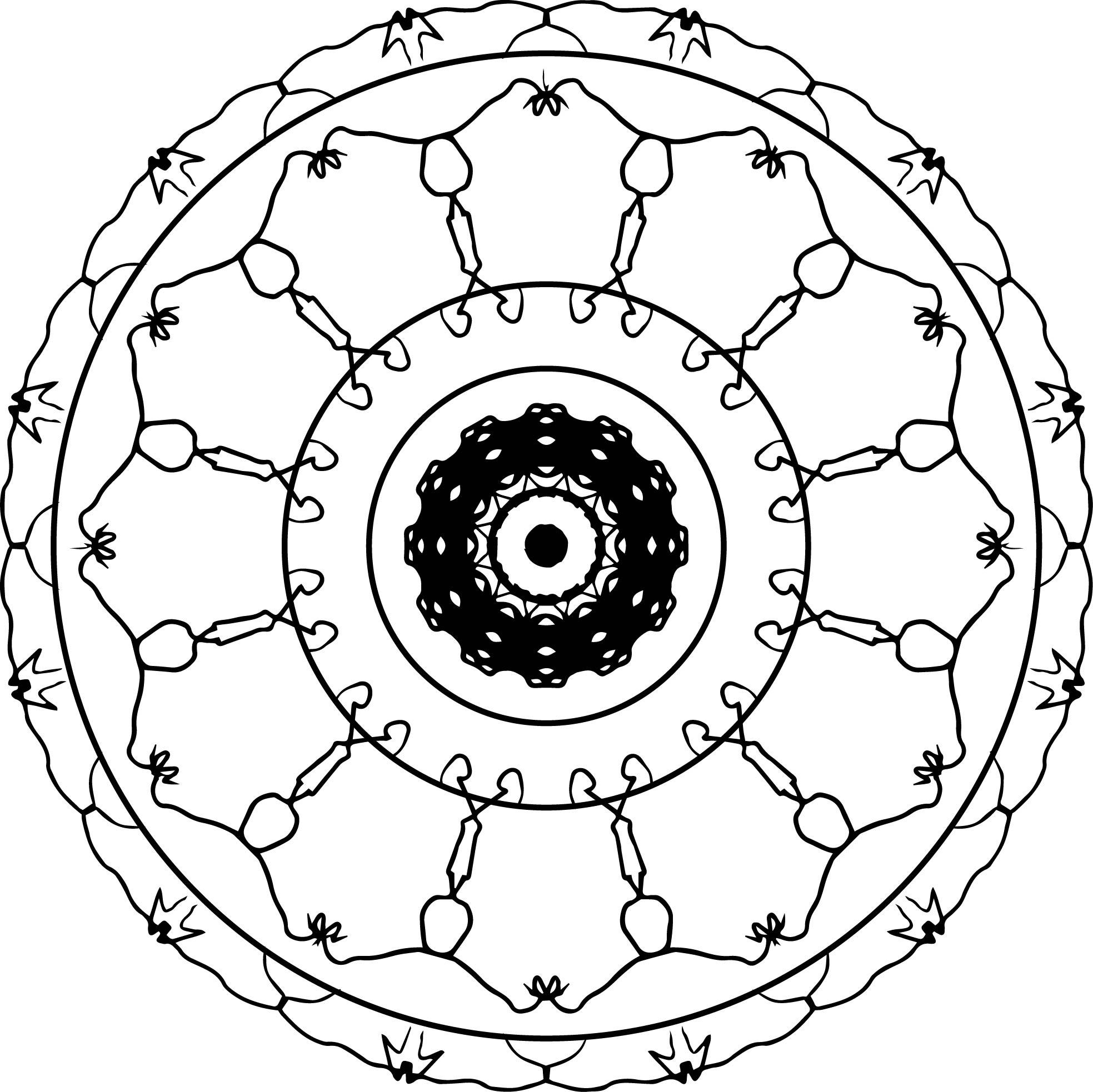 Adult Mandala Shape Orniment Style Coloring Page 41