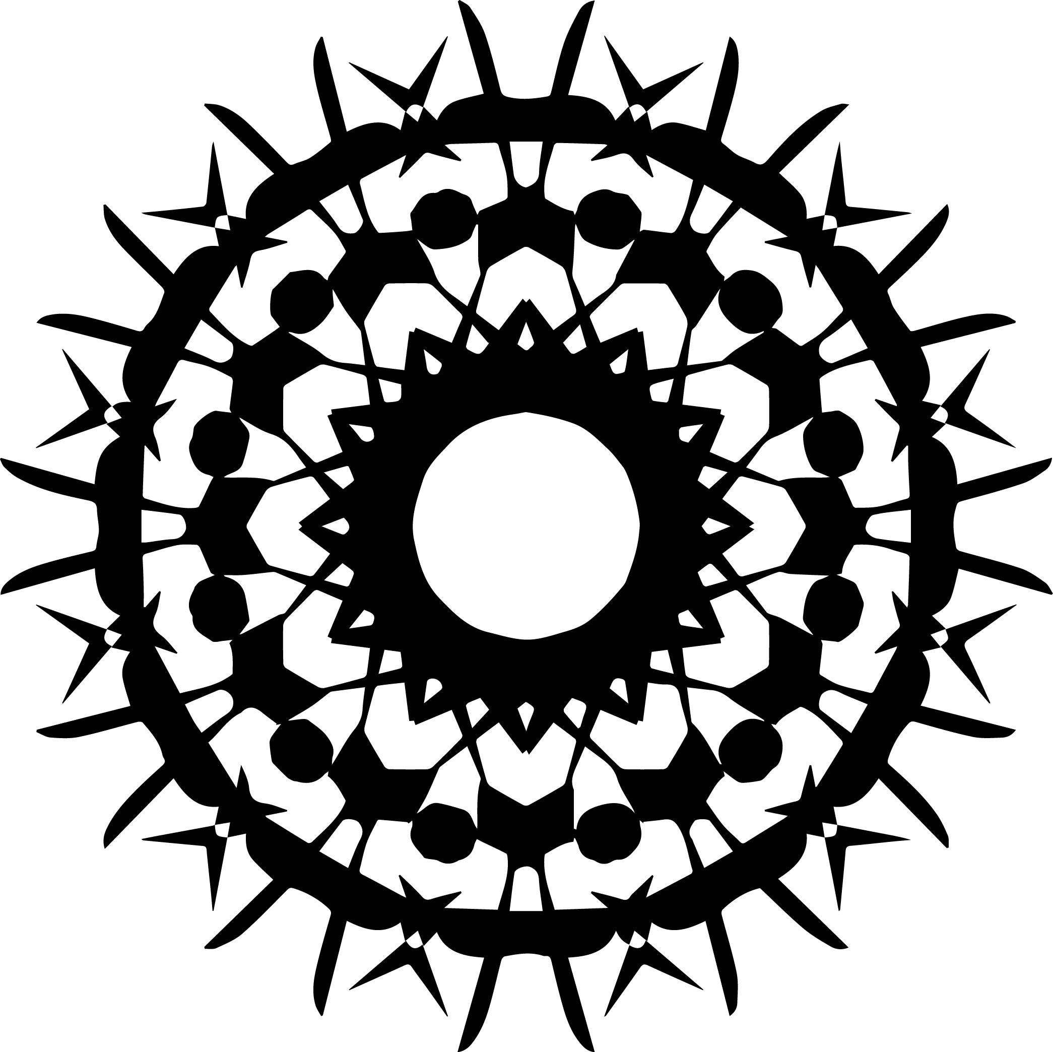 Adult Mandala Shape Orniment Style Coloring Page 48